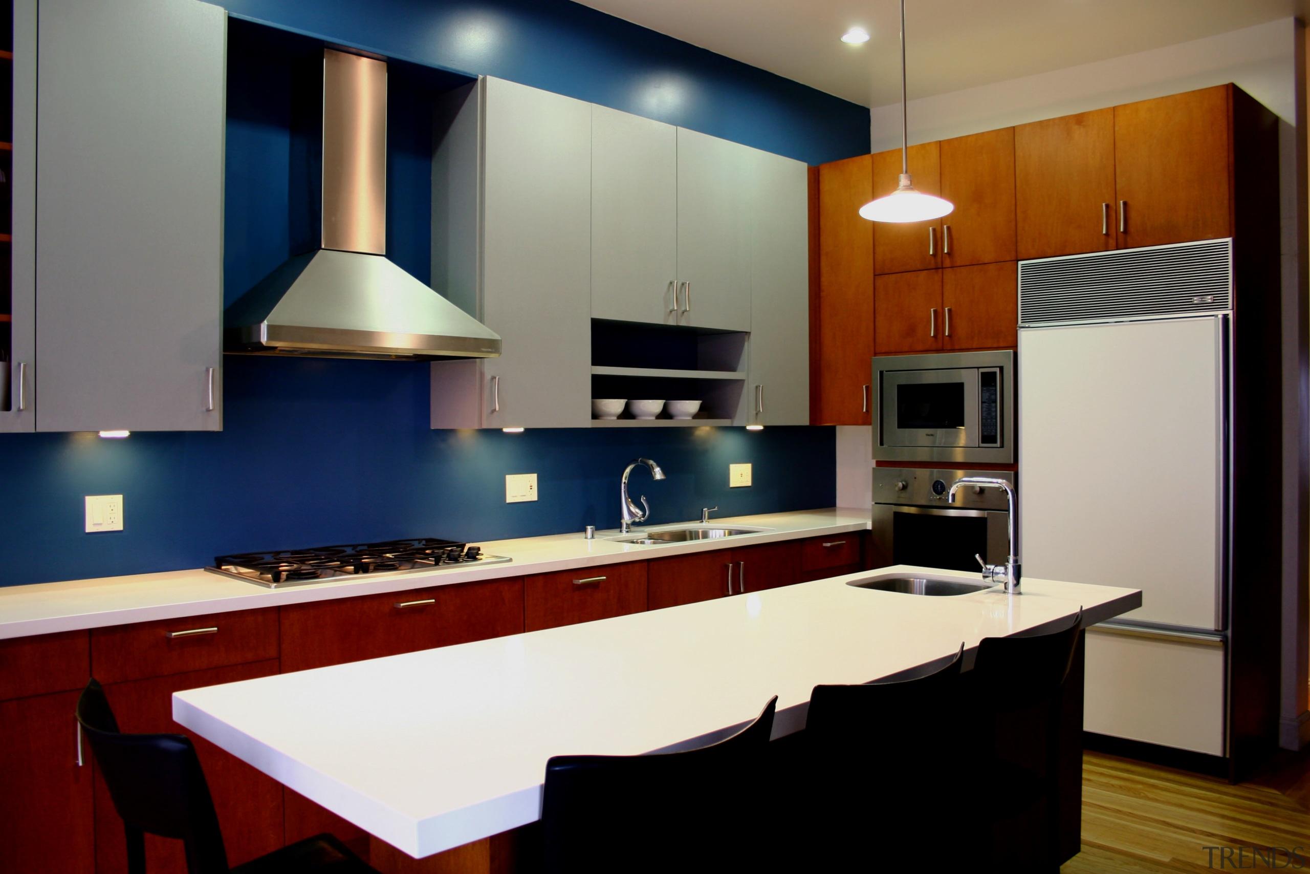 Contemporary kitchen silver maple cabinets - Contemporary kitchen cabinetry, countertop, interior design, kitchen, room