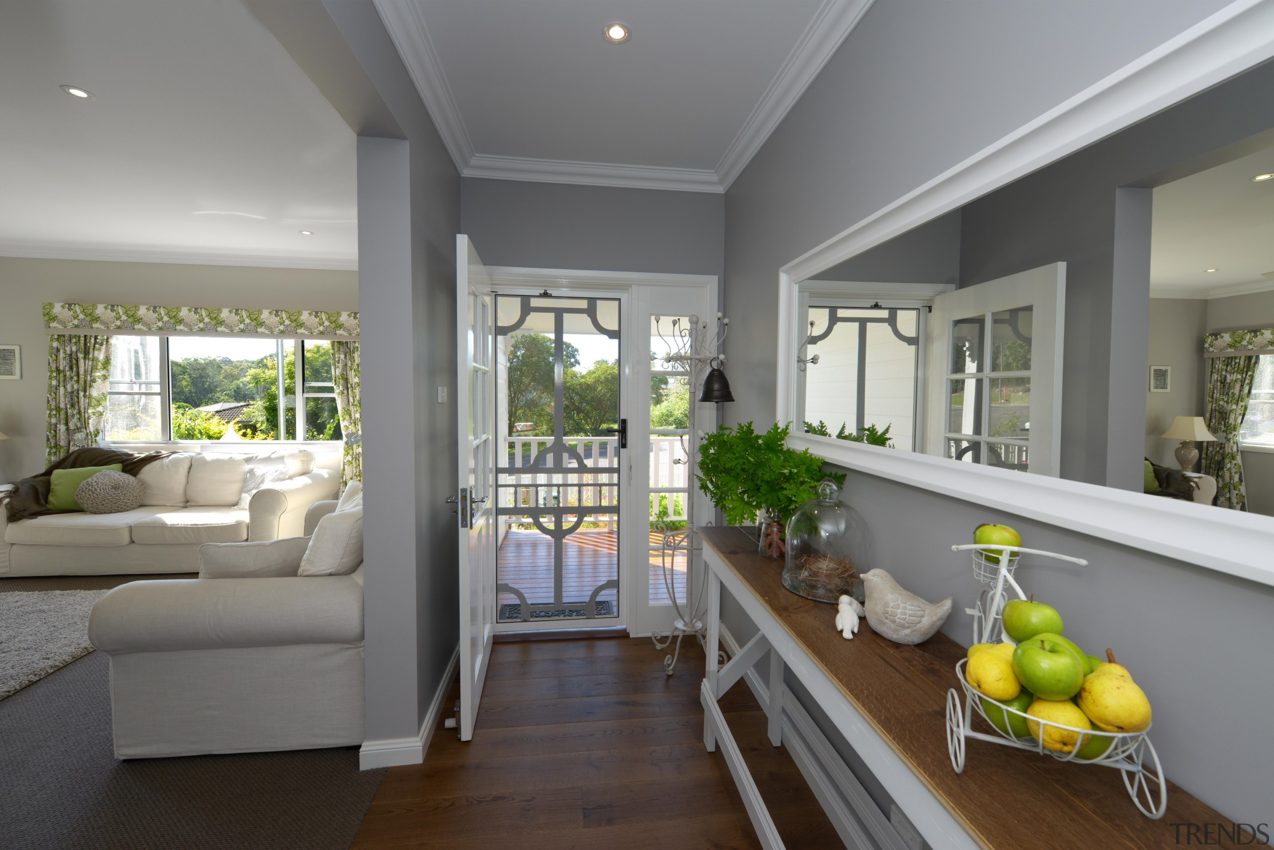 At Manor we believe in harmony - harmony home, house, interior design, living room, real estate, window, gray