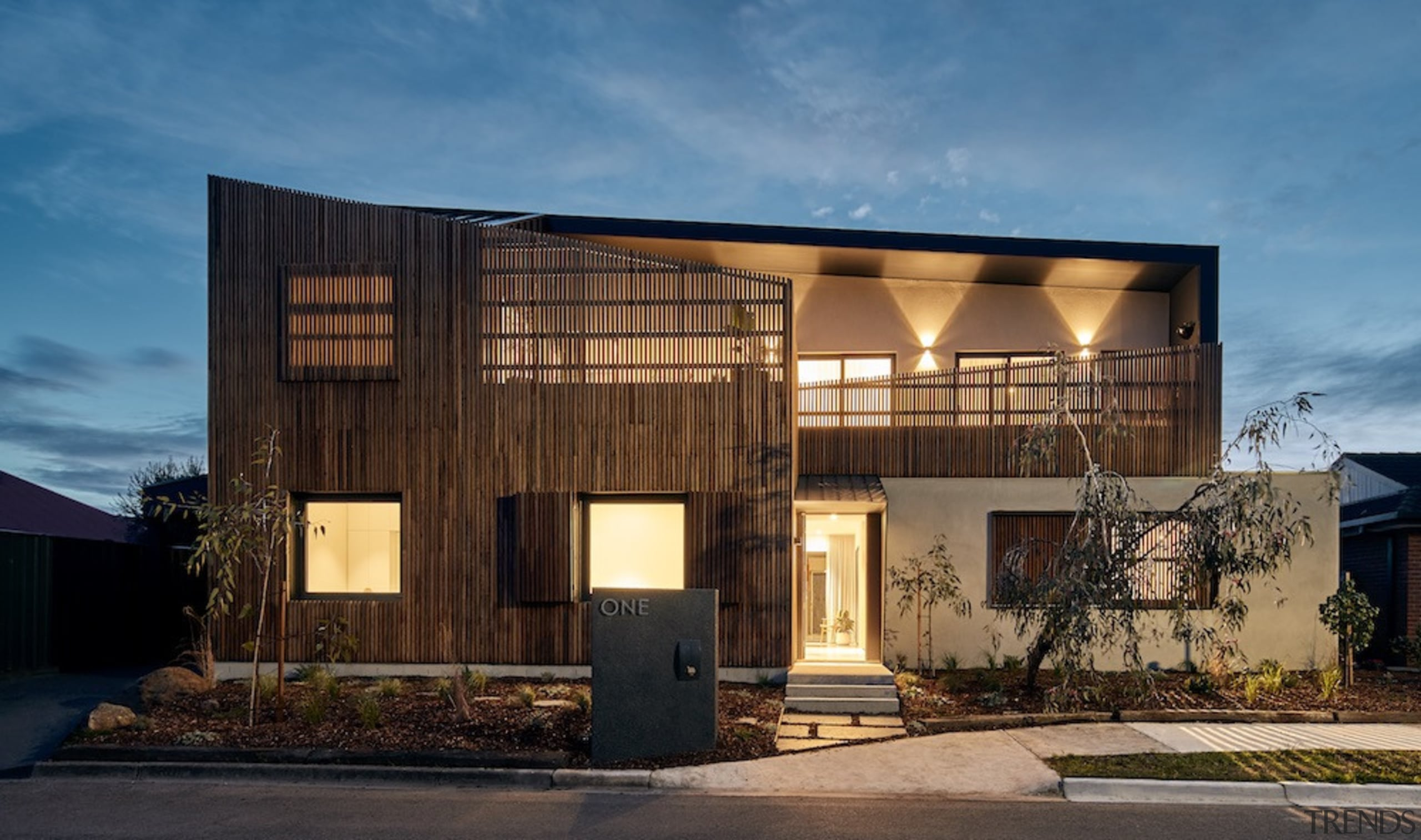 Highly Commended – Star Architecture – 2018 TIDA architecture, building, elevation, facade, home, house, property, real estate, residential area, teal, brown