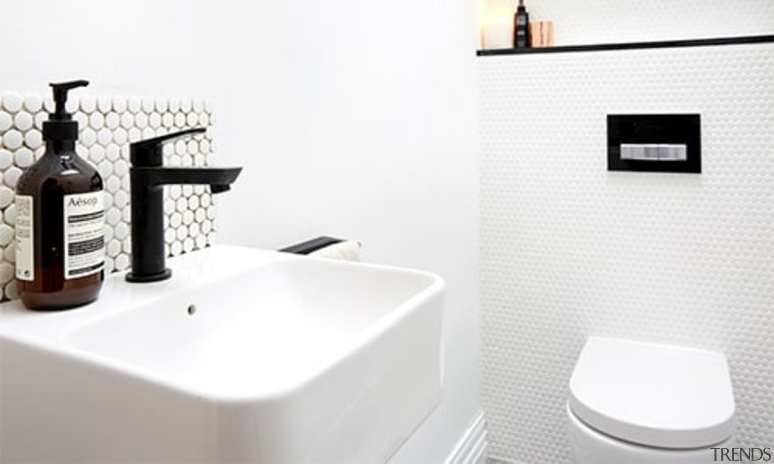 Thepowderoom Inwall Cistern Plate Black Buttons2 - bathroom bathroom, bathroom sink, ceramic, plumbing fixture, product, room, sink, tap, toilet seat, white