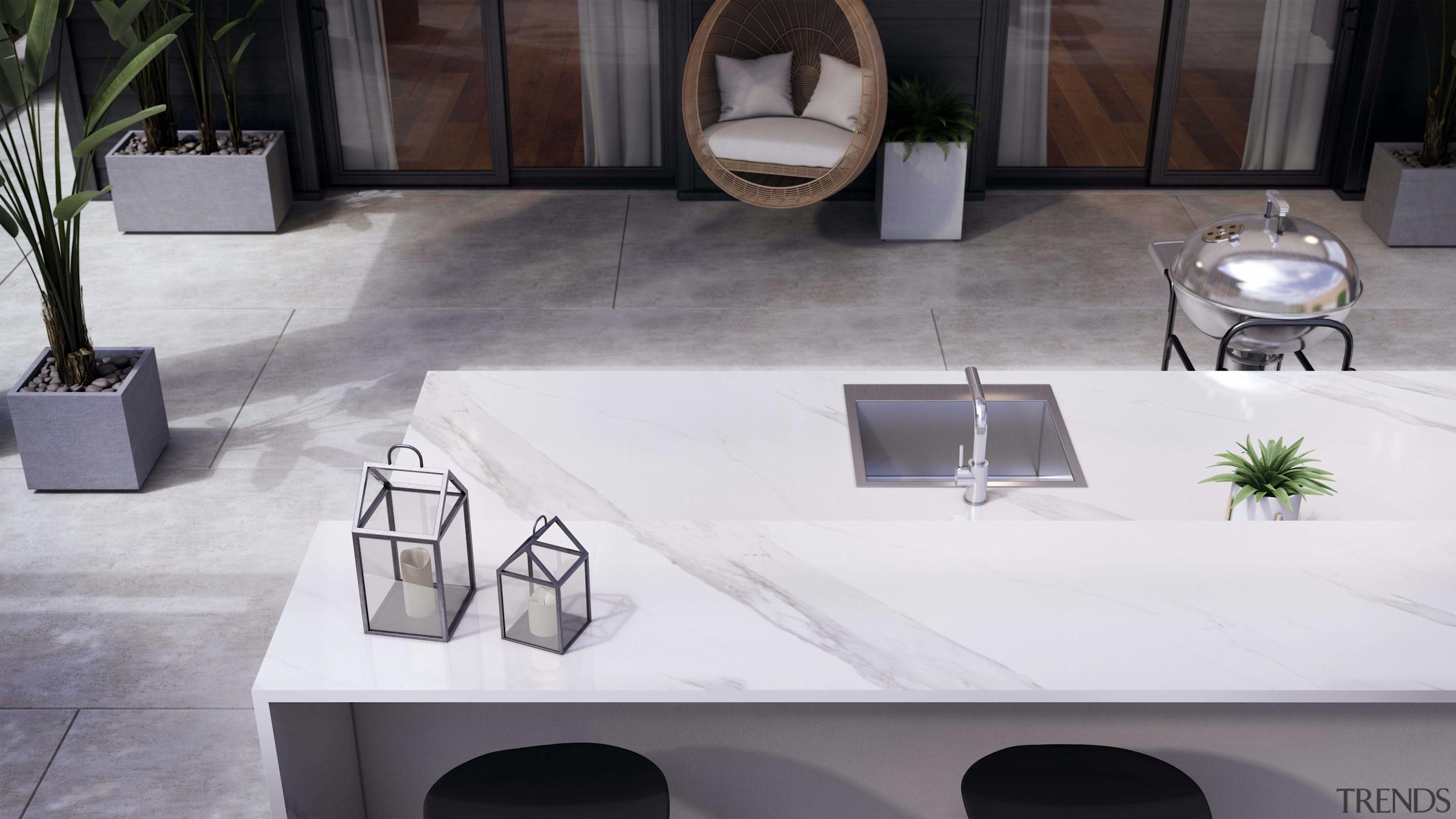 Dekton Outdoor Countertop – Olimpo, Flooring – Keon architecture, coffee table, countertop, design, floor, flooring, furniture, interior design, marble, material property, room, sink, table, tile, white, gray