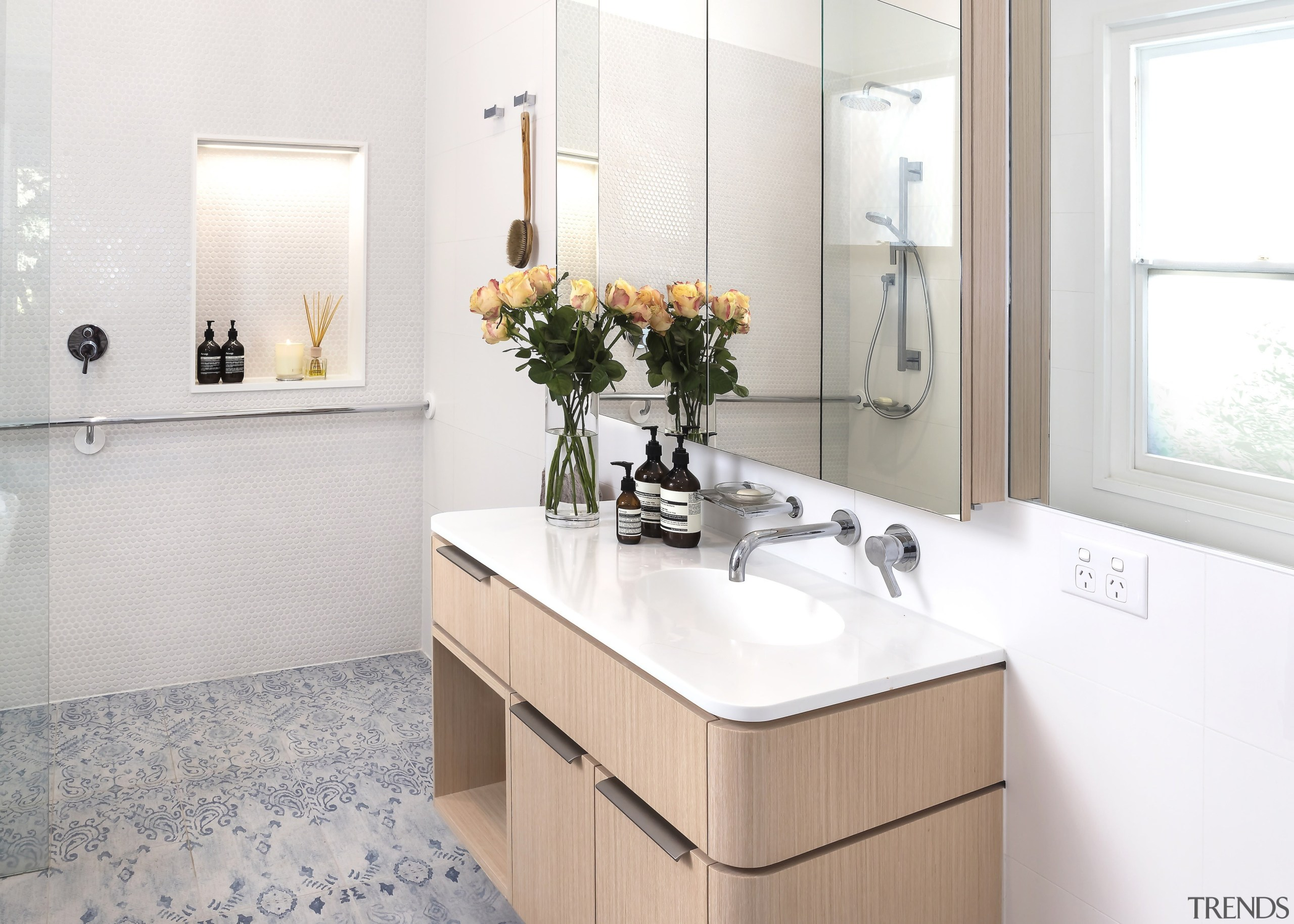 Highly Commended – Mcmahon And Nerlich Architects 2 bathroom, bathroom accessory, bathroom cabinet, bathroom sink, countertop, floor, home, interior design, plumbing fixture, room, sink, tap, white