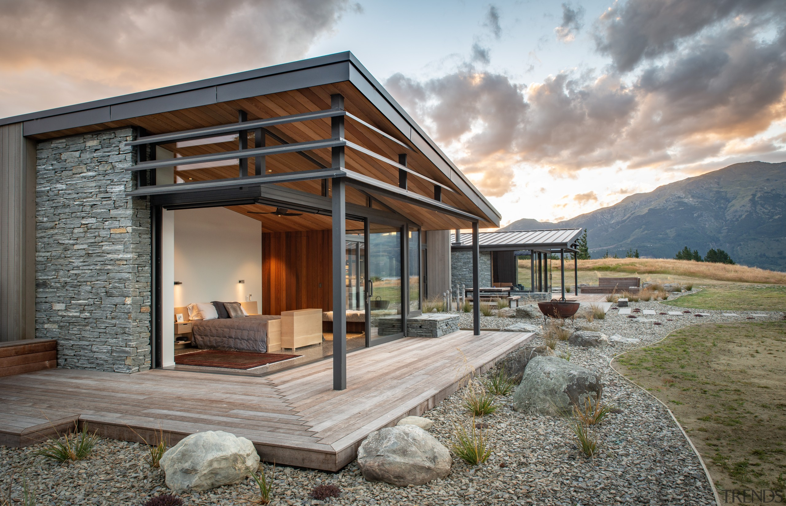 Front seats to the scenery. This home's master