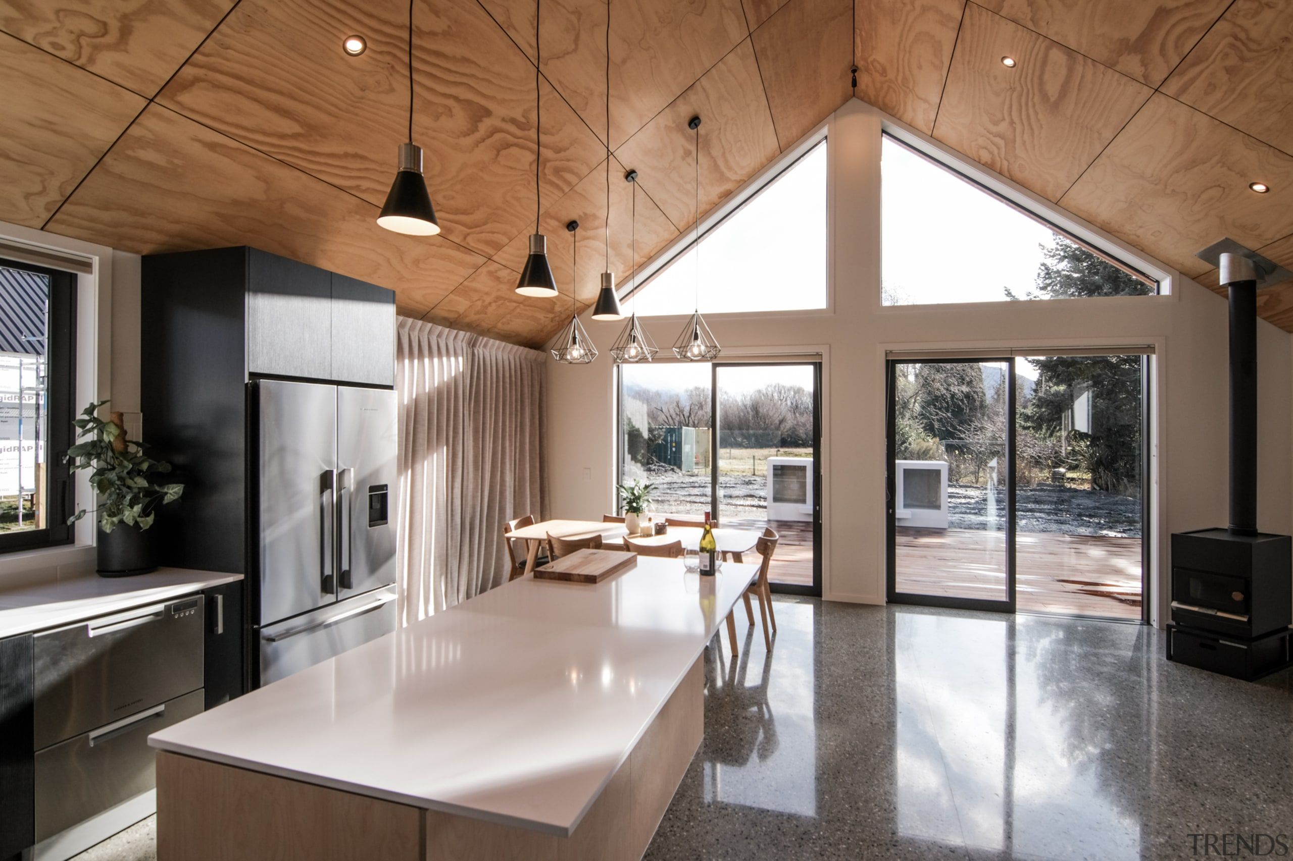 Gable roofs are not only ideal for heading