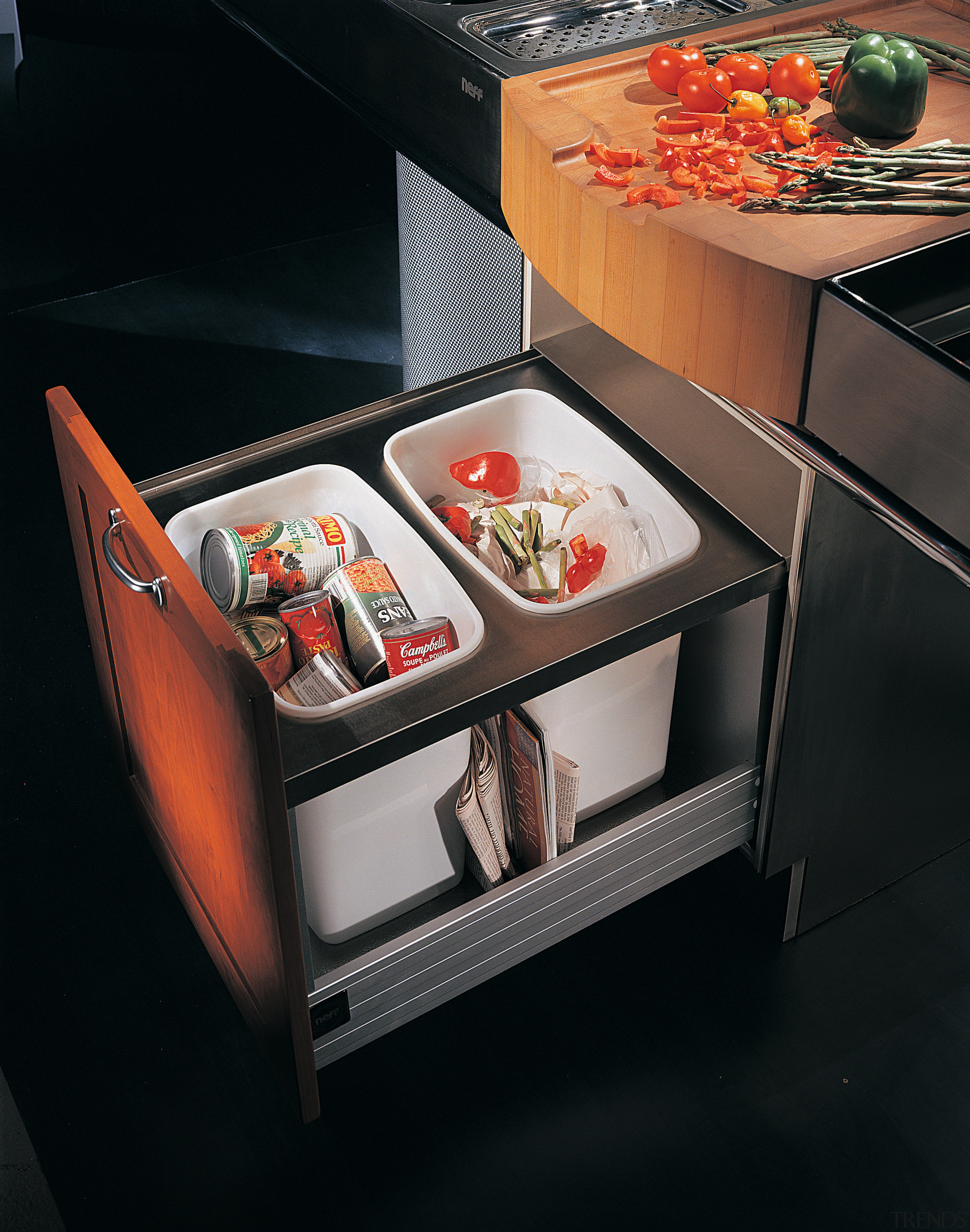 View of the cabinetry - View of the display case, furniture, home appliance, kitchen appliance, table, black