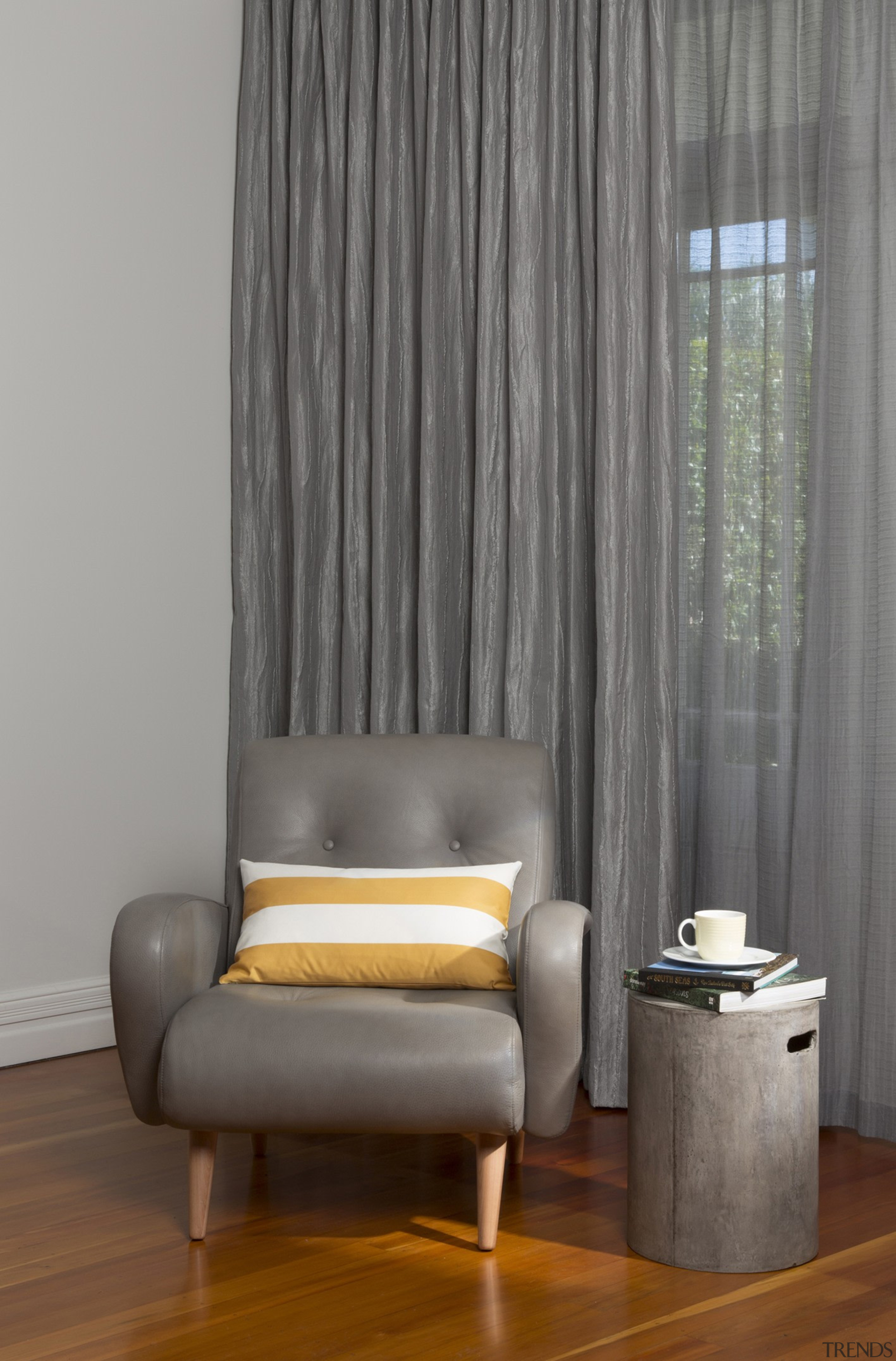 Harrisons Curtains - Harrisons Curtains - chair | chair, couch, curtain, floor, furniture, home, interior design, living room, table, textile, wall, window, window covering, window treatment, gray