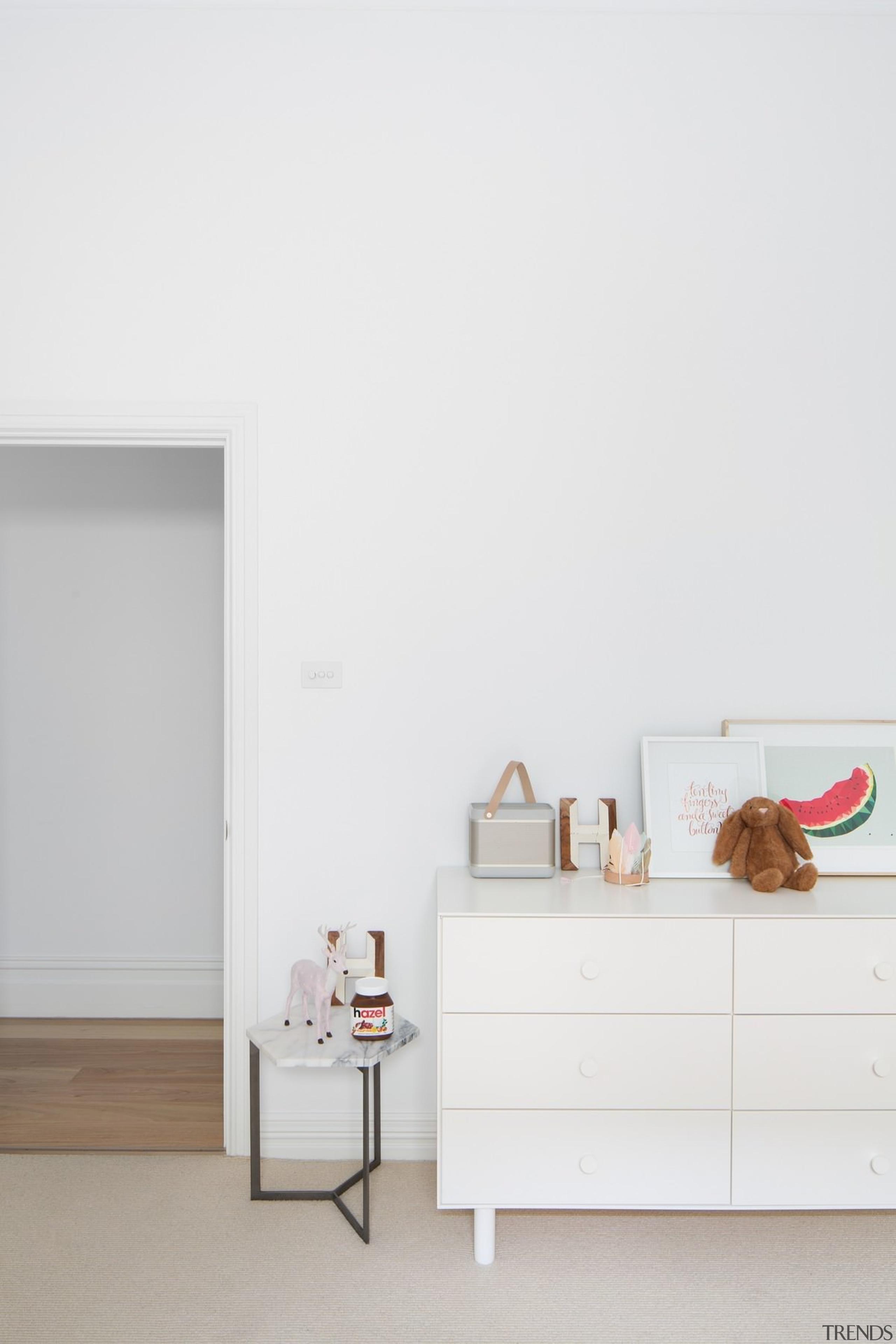Hardwood floors are hard to beat - Hardwood floor, furniture, home, house, interior design, product design, shelf, shelving, table, wall, white