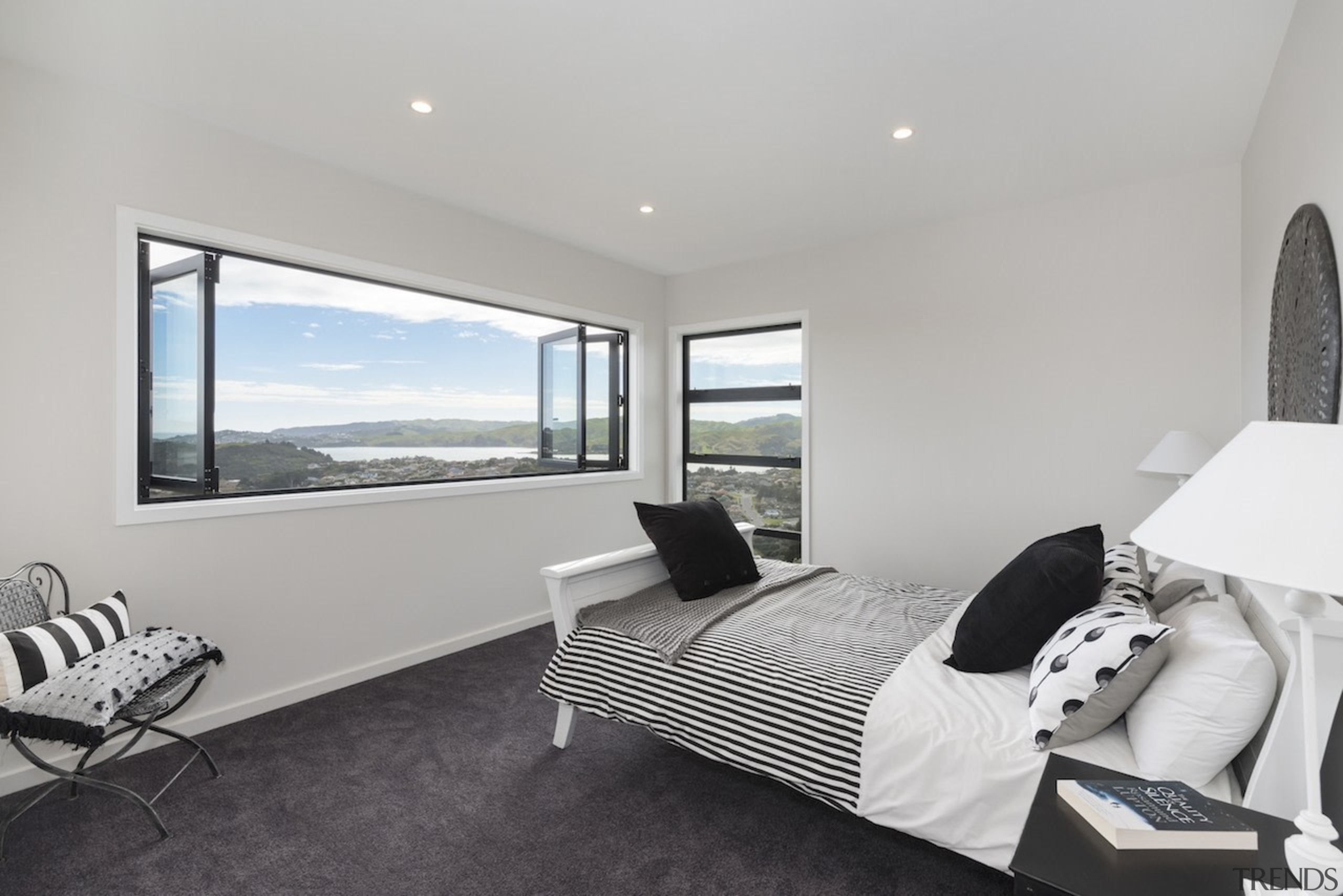 Landmark Homes  Fitzroy Design Master Bedroom - architecture, bedroom, floor, house, interior design, property, real estate, room, window, gray