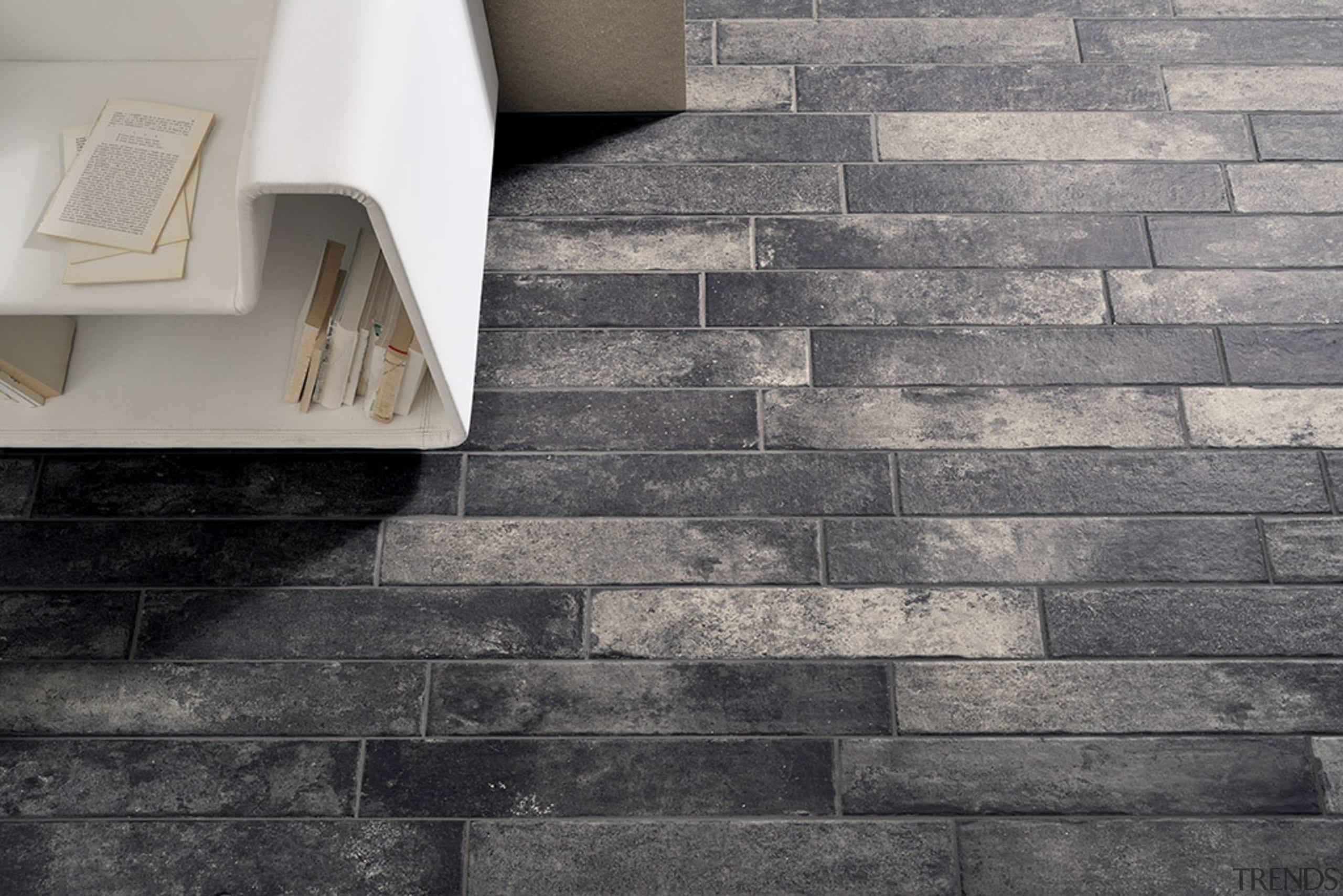 Bricklane Nero 101x614 - black and white   black and white, brick, floor, flooring, tile, wall, gray, black
