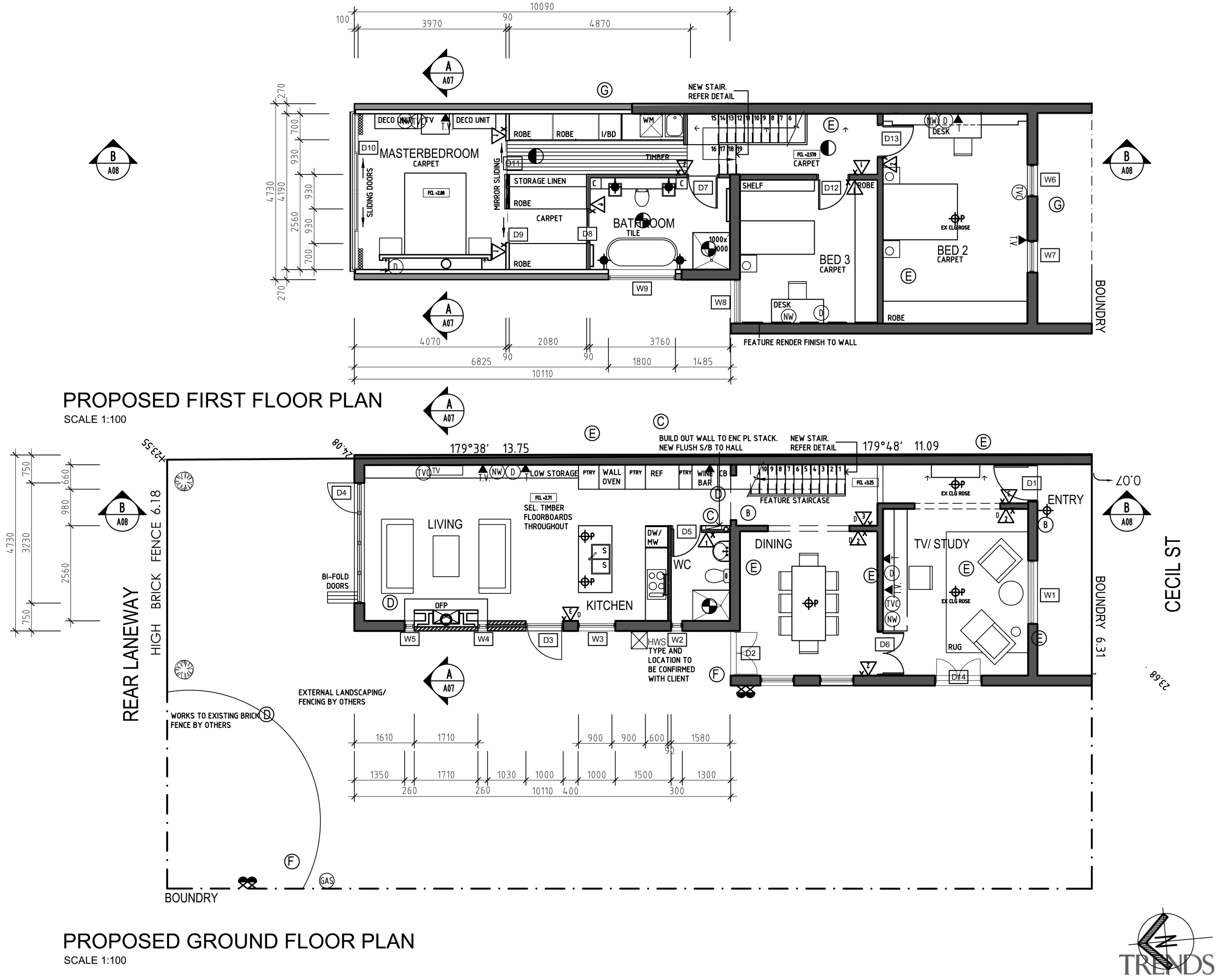 View of the plans for the kitchen. - area, artwork, black and white, design, diagram, drawing, floor plan, line, plan, product design, technical drawing, text, white