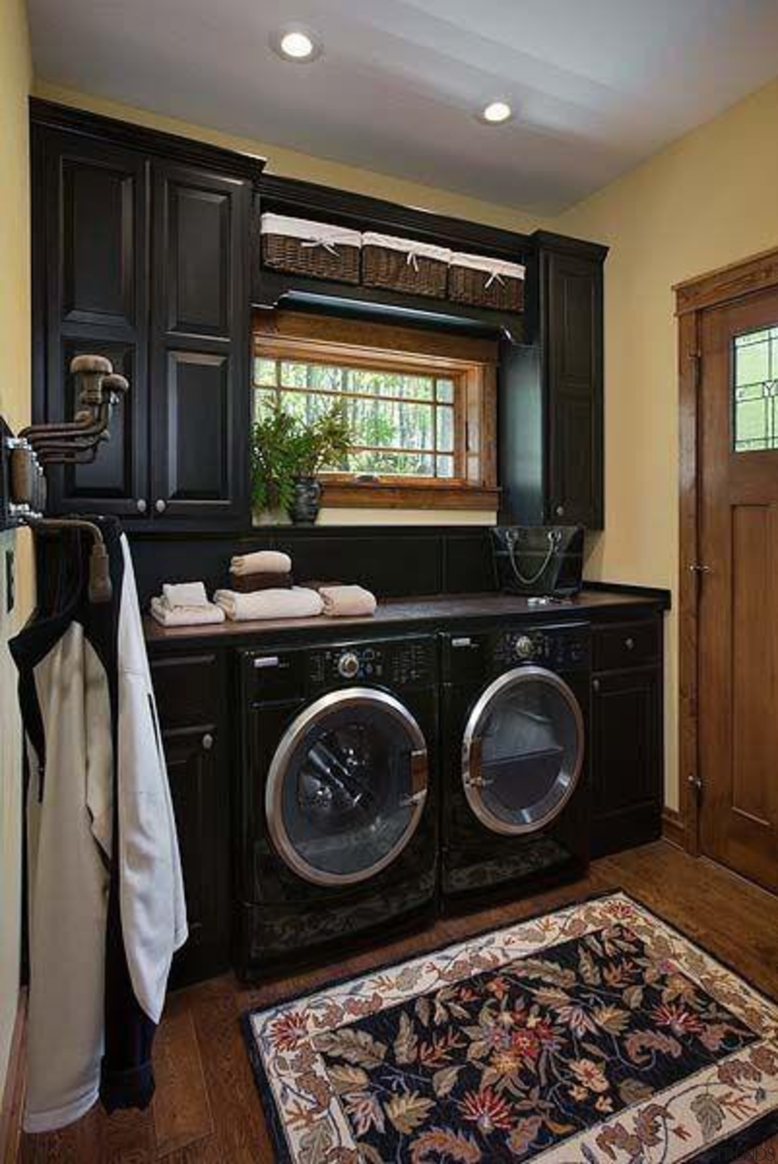 Utilitarian spaces such as laundry rooms and mudrooms cabinetry, countertop, home, home appliance, interior design, kitchen, laundry room, major appliance, room, black, gray