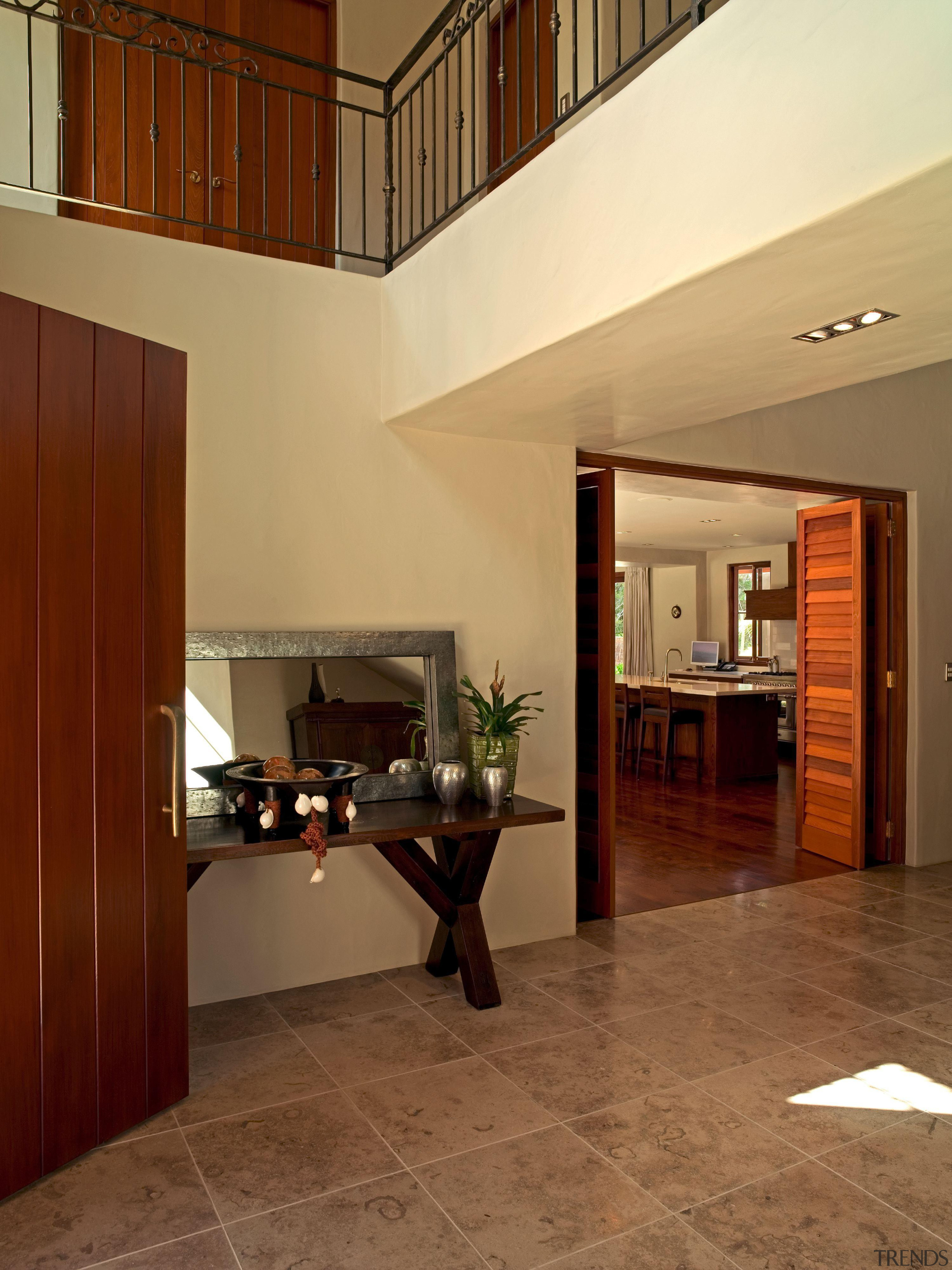 139 onetaunga front door - Onetaunga Front Door architecture, ceiling, estate, floor, flooring, hardwood, interior design, laminate flooring, living room, lobby, real estate, tile, wall, wood, wood flooring, brown