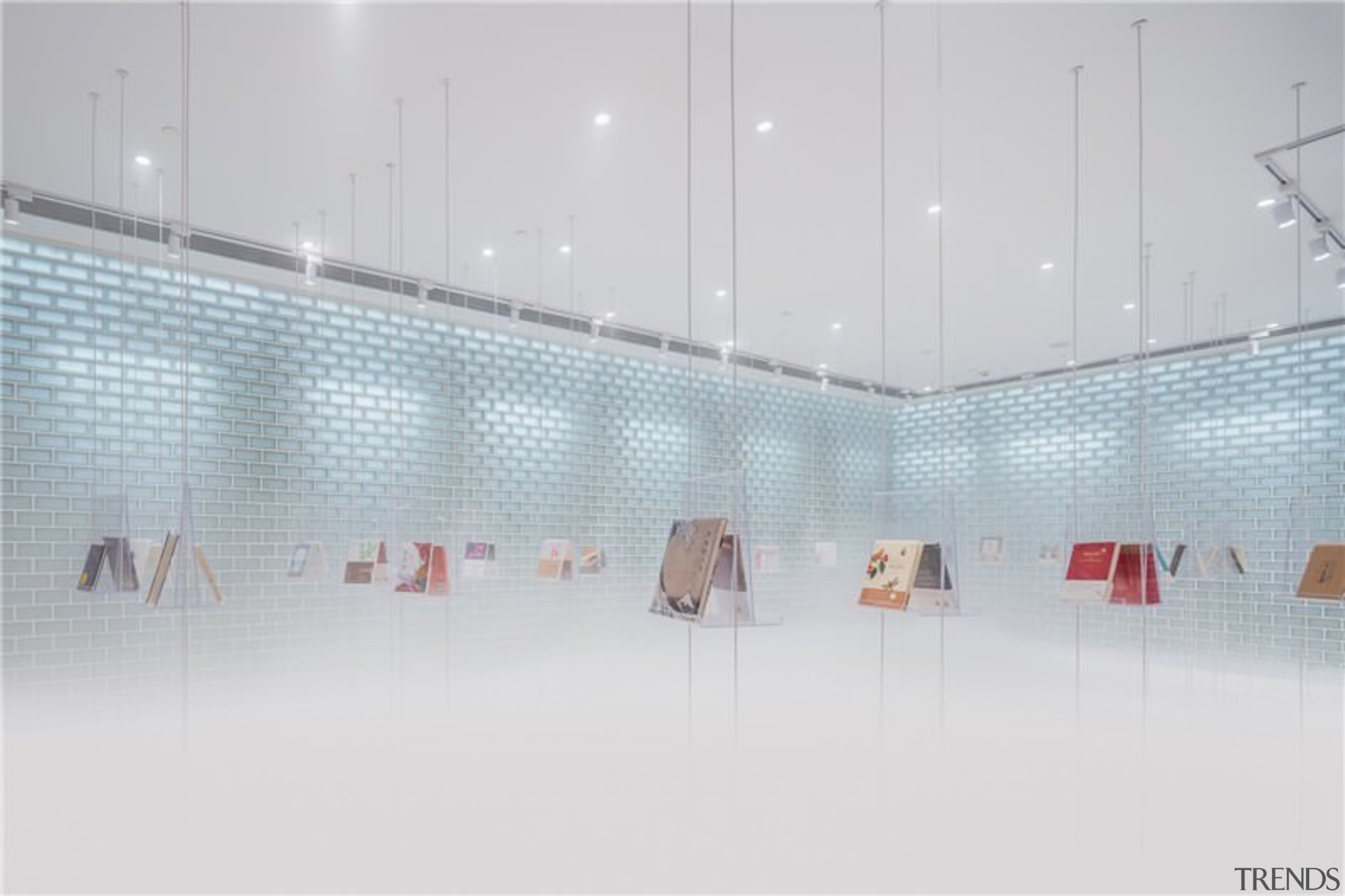A new take on the bookstore - A architecture, ceiling, design, glass, interior design, light, lighting, line, product design, gray