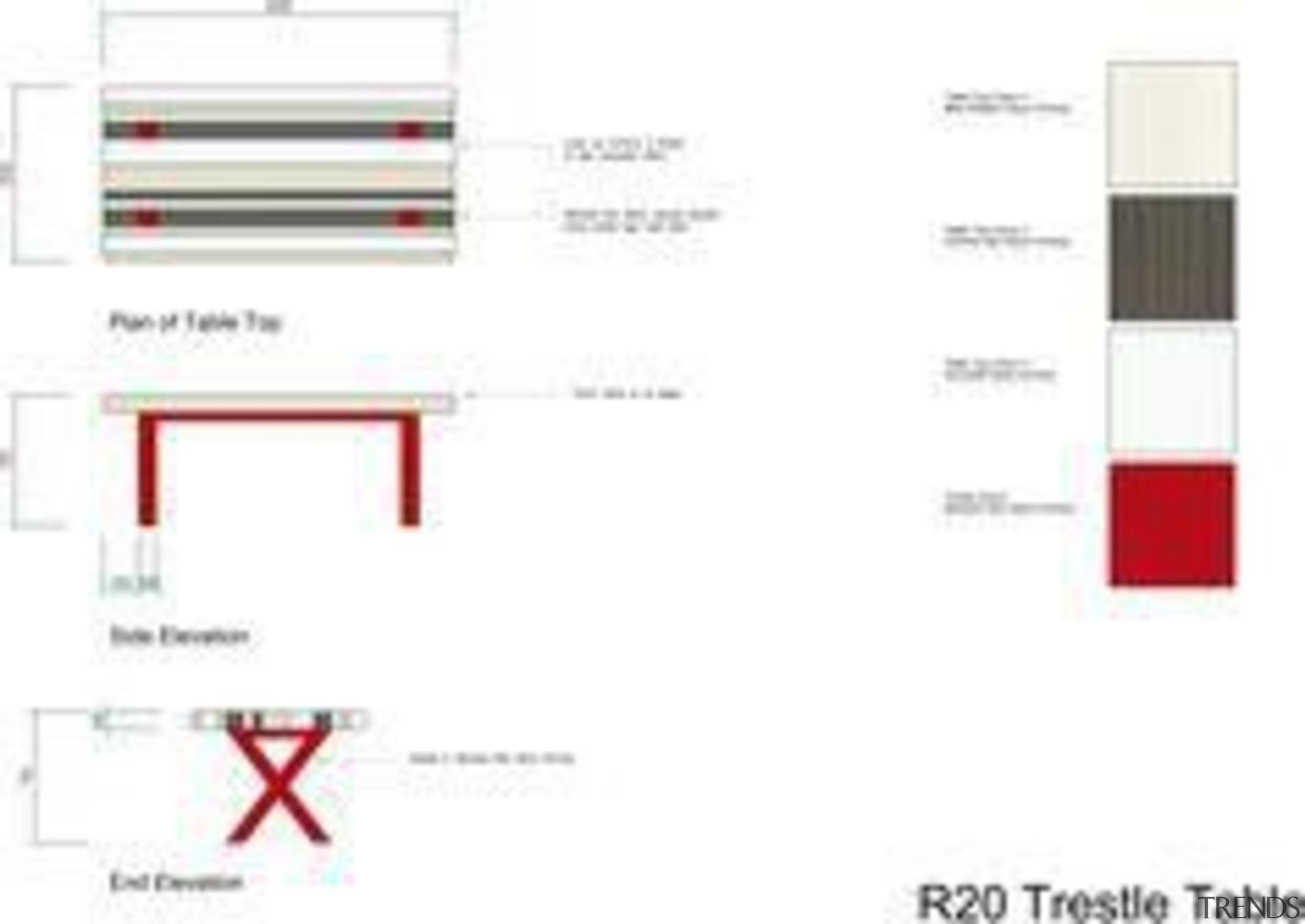 by Rachel Venables - R20 Trestle Table - area, design, line, product, product design, white