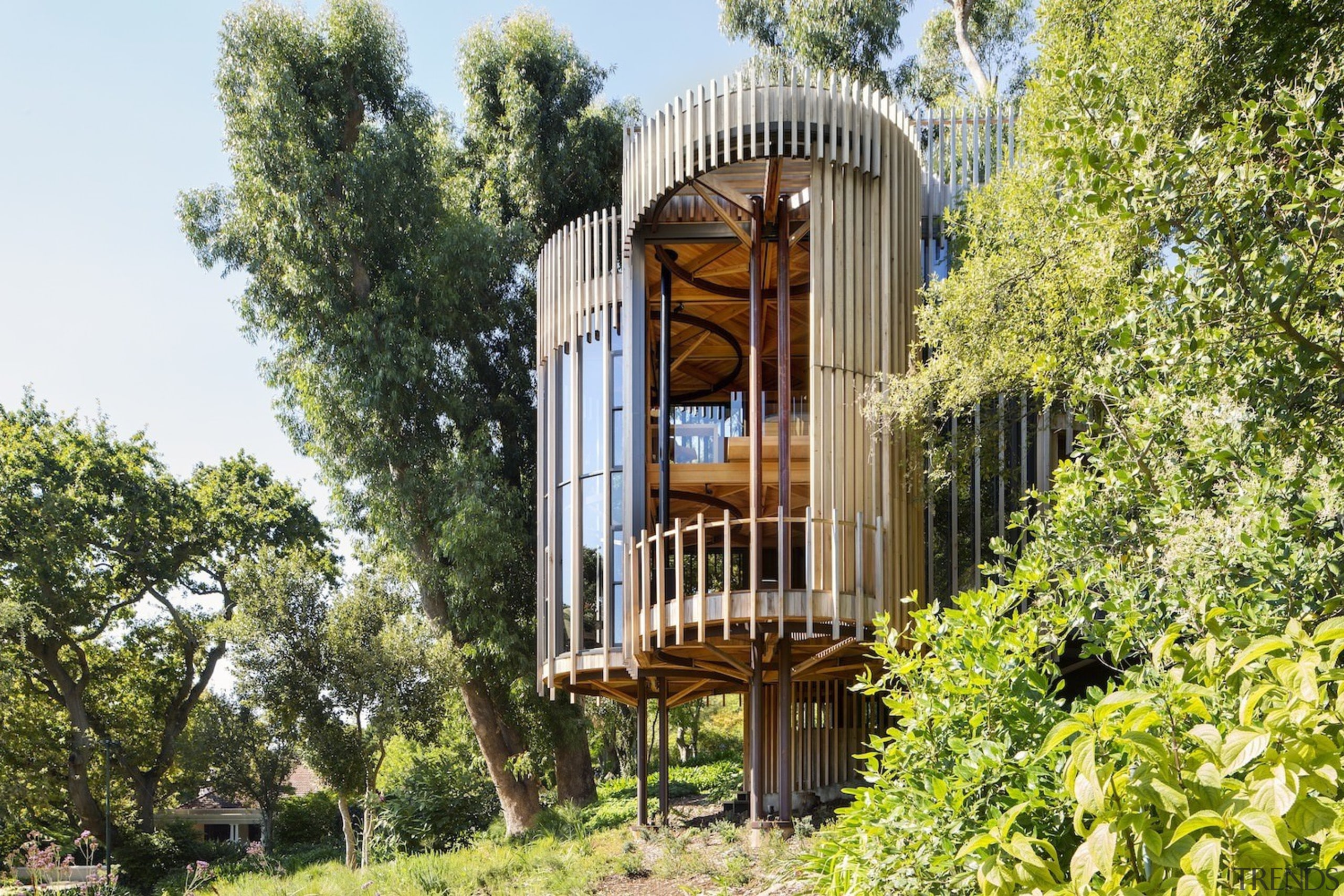 Architect: Malan VorsterPhotography by Adam Letch, Micky building, cottage, home, house, outdoor structure, property, real estate, tree, brown