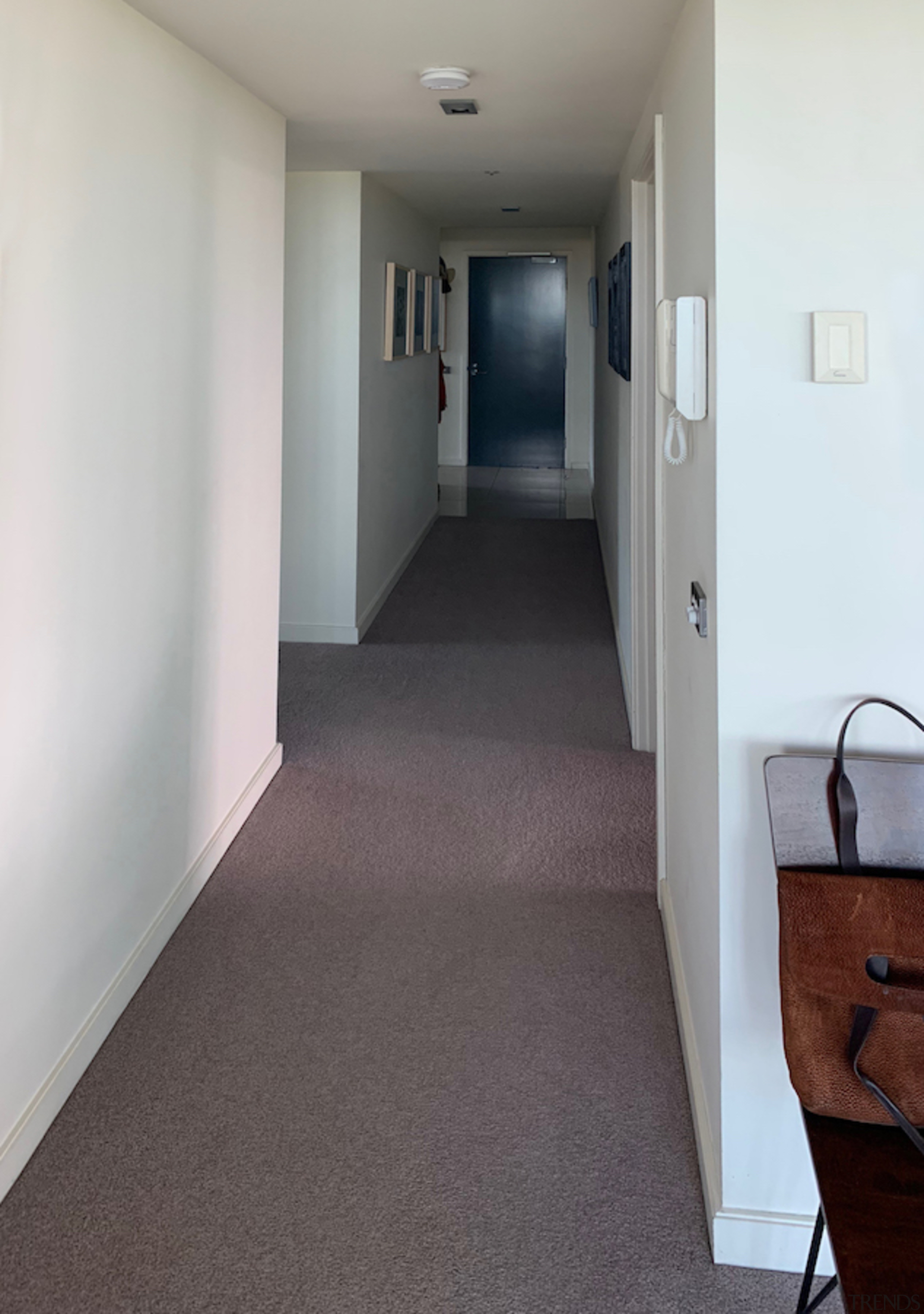 Entry before the makeover. - Your apartment, but