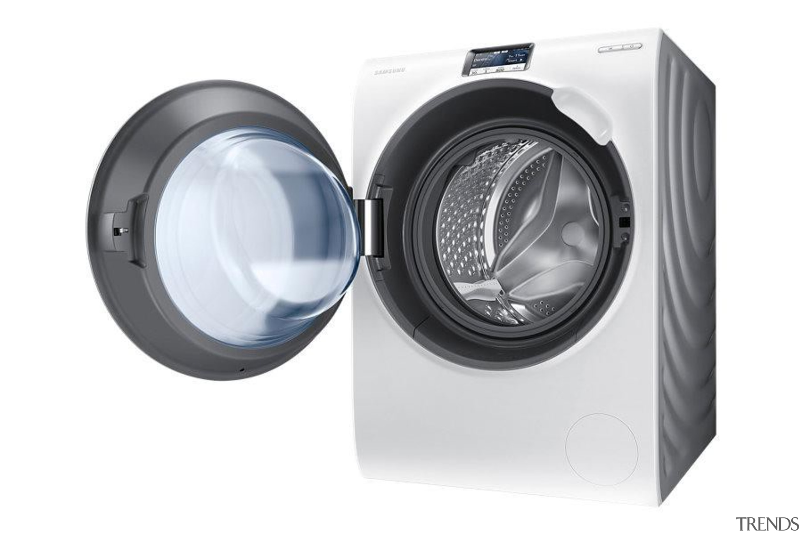 Laundry-Front loader WW90H9600EW/SAWW9000 is a washing machine with car subwoofer, clothes dryer, computer speaker, home appliance, major appliance, product, product design, sound box, washing machine, white