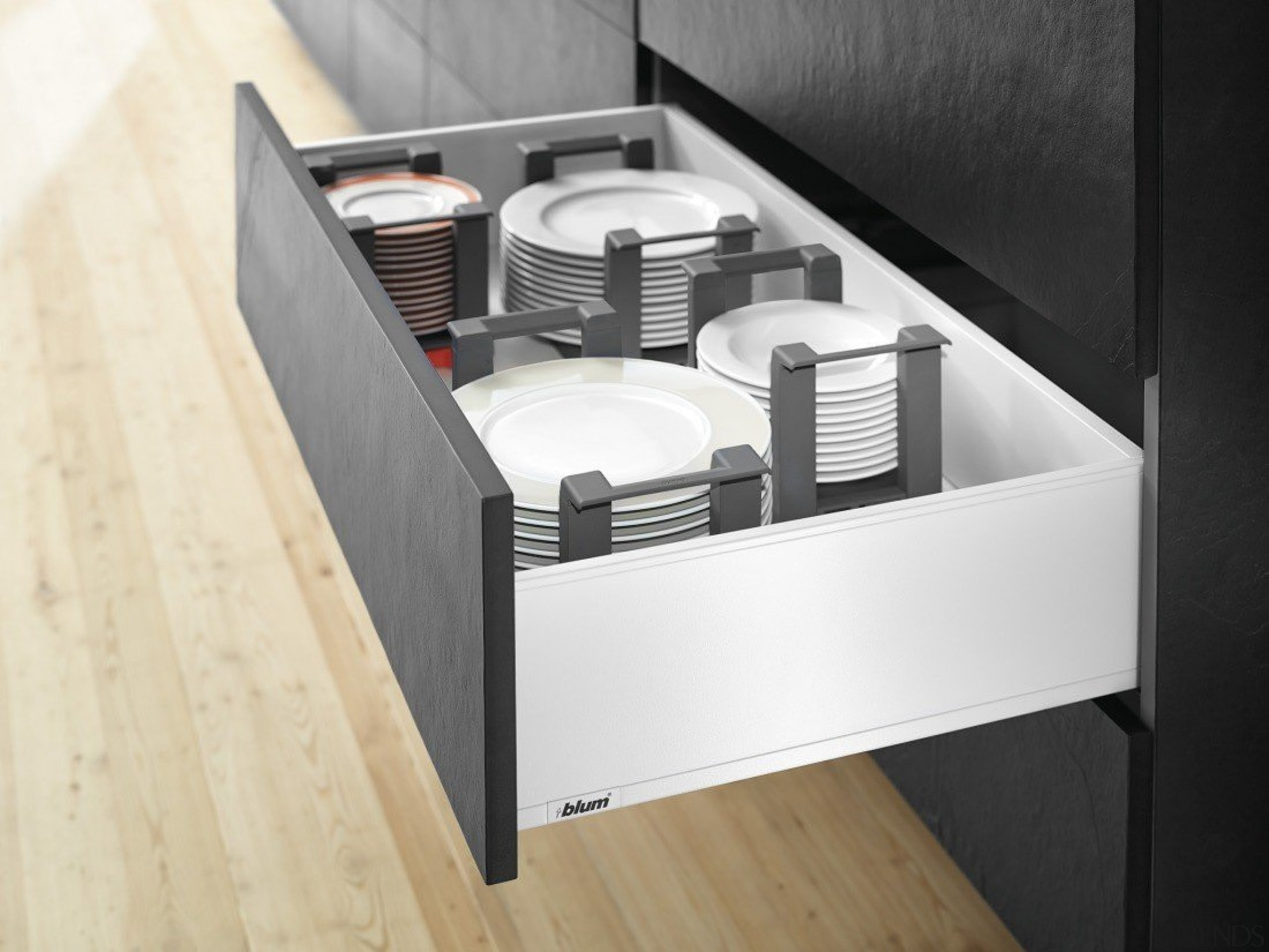 AMBIA-LINE kitchen accessories – organization at its best. drawer, furniture, kitchen, product, product design, white, black