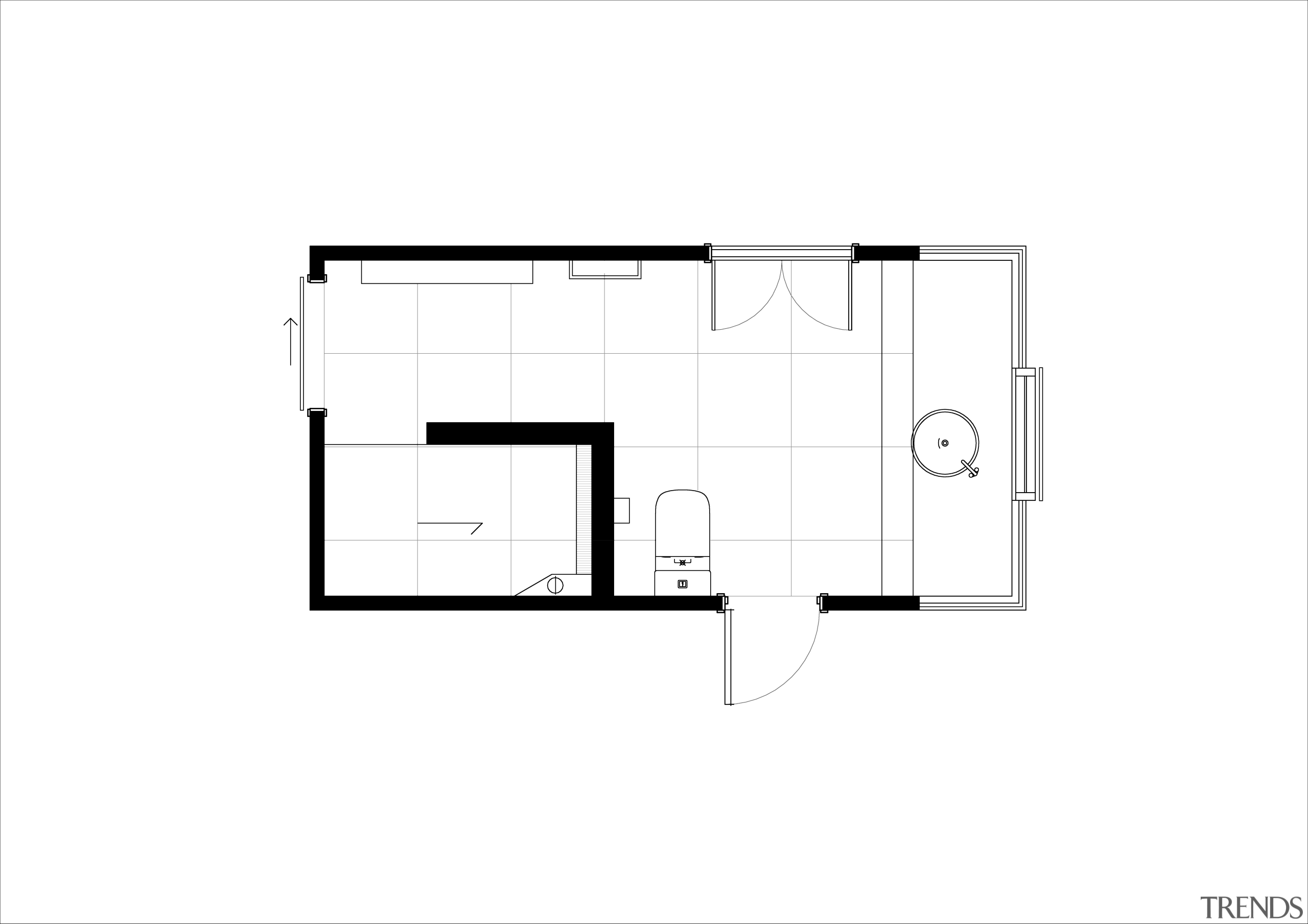 The floor plan shows how the shower doubles angle, architecture, area, design, diagram, drawing, elevation, floor plan, font, line, plan, product, product design, rectangle, square, structure, text, white