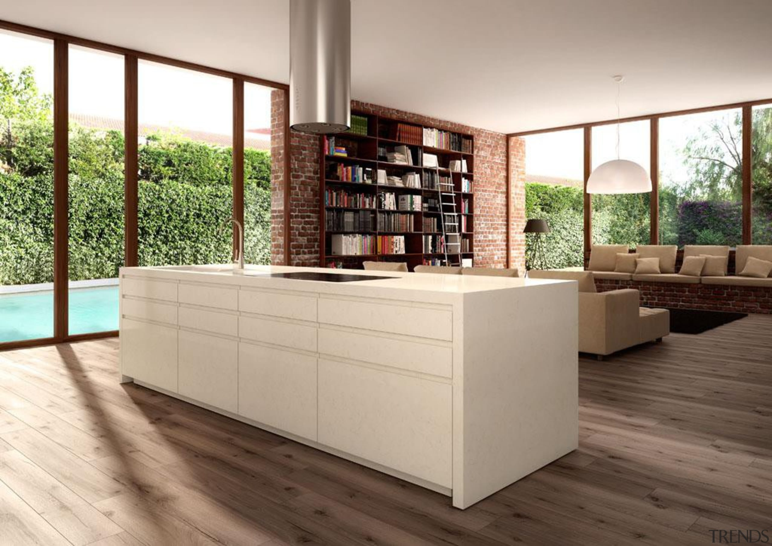 A delicate blend of creamy beiges with gentle floor, flooring, furniture, hardwood, interior design, wood, gray, brown