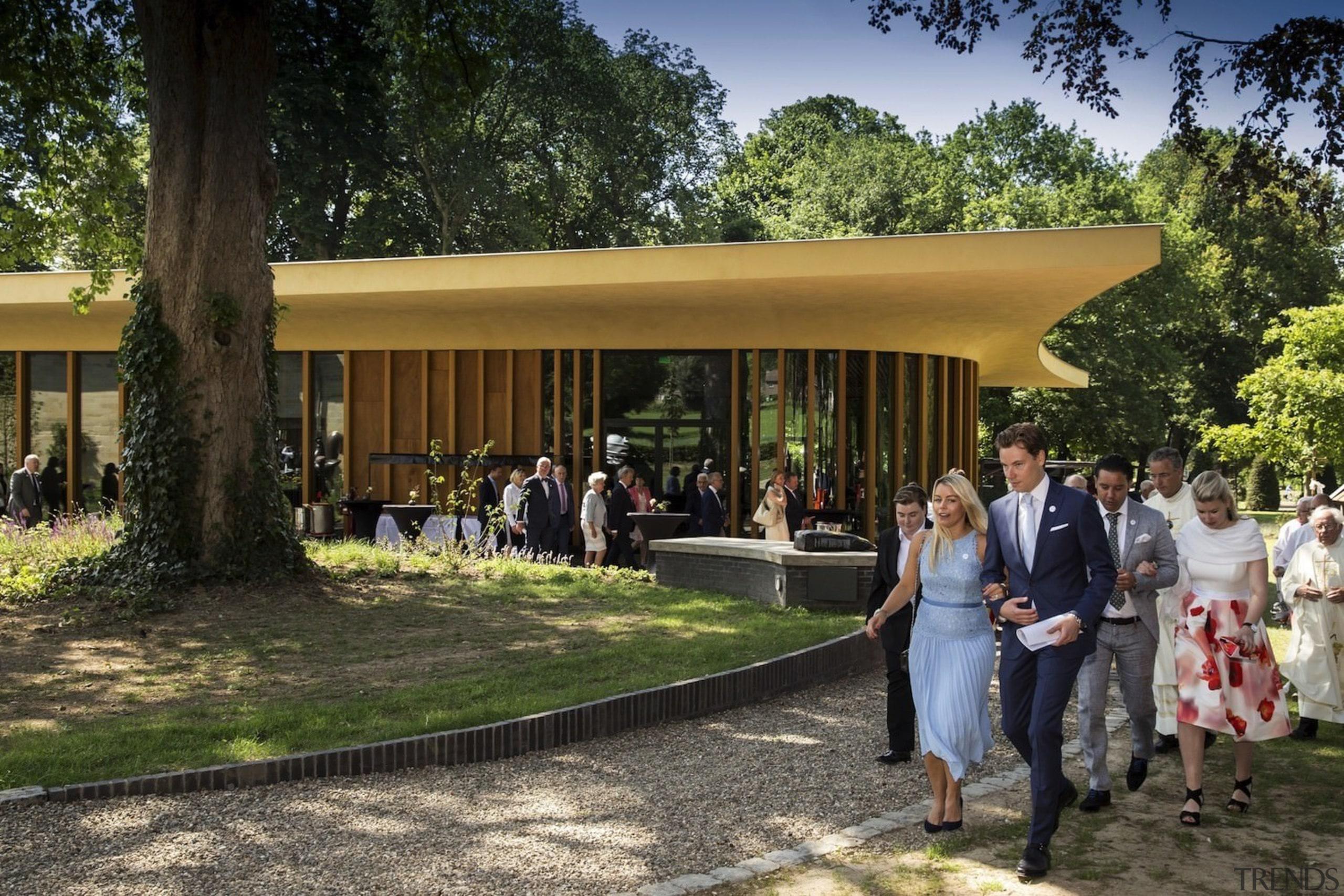 Architect: Meccanoo house, pavilion, tree, brown, black