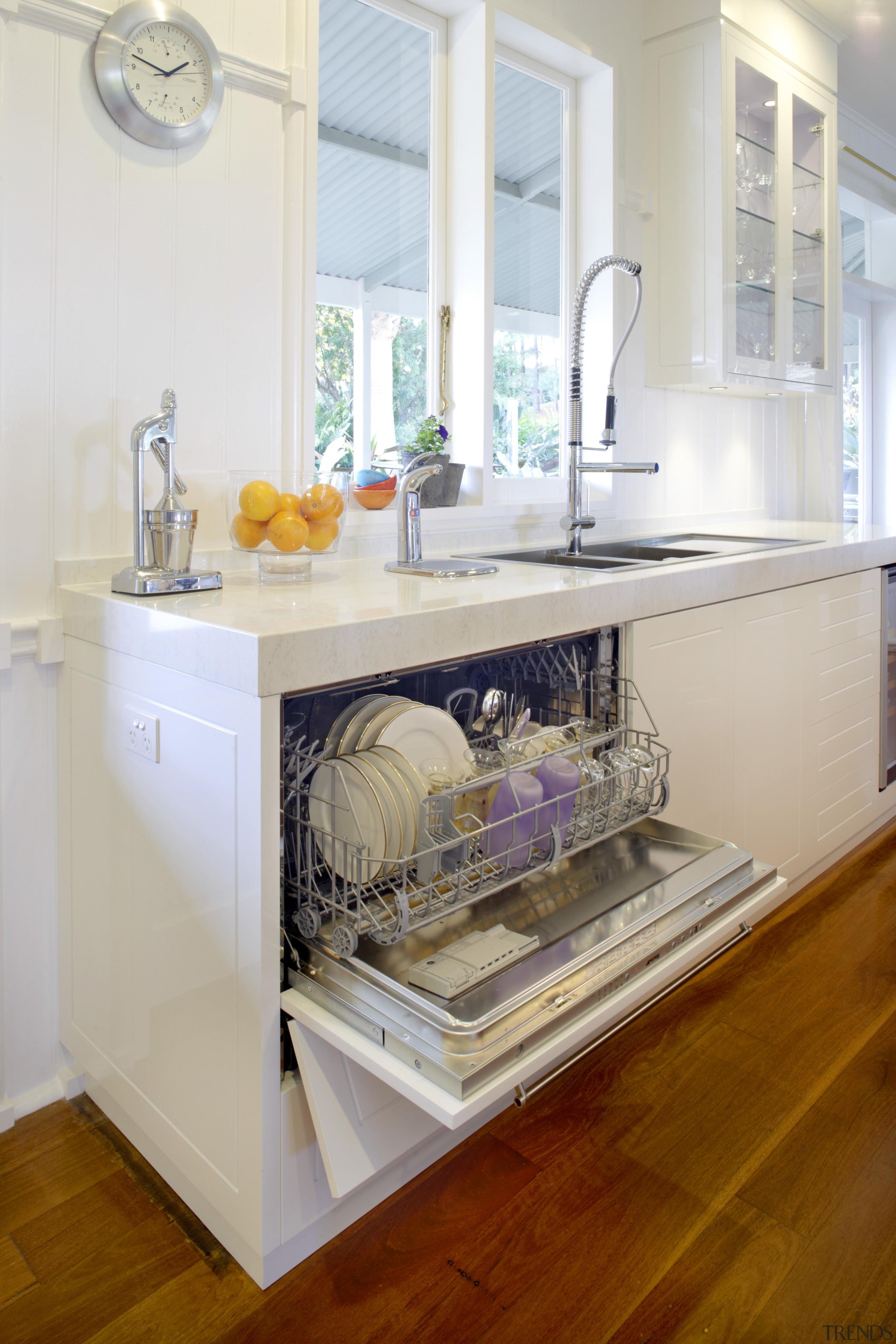 integrated dishwasher - integrated dishwasher - cabinetry   cabinetry, countertop, cuisine classique, furniture, home appliance, interior design, kitchen, room, table, gray