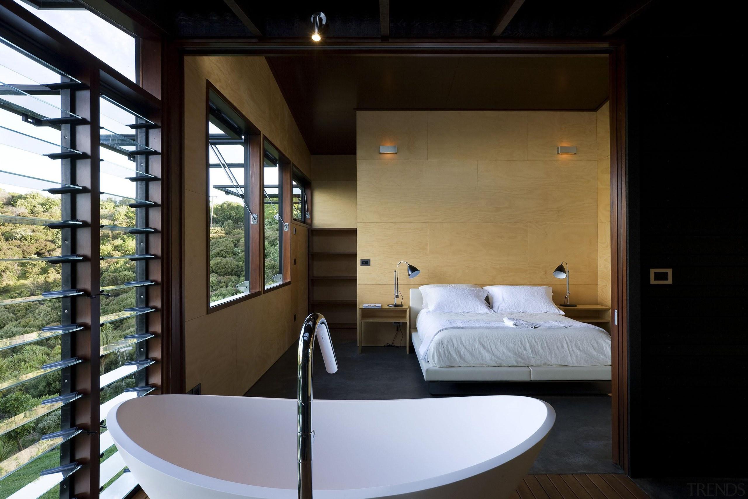 Waiheke Island, Auckland - Owhanake Bay - architecture architecture, ceiling, house, interior design, room, black