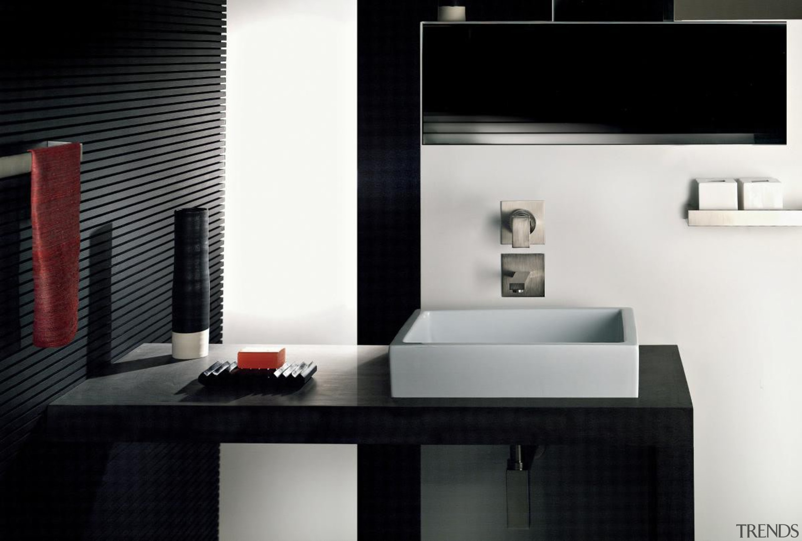When planning a new bathroom, you want to bathroom, bathroom accessory, interior design, plumbing fixture, product, room, sink, tap, black, white