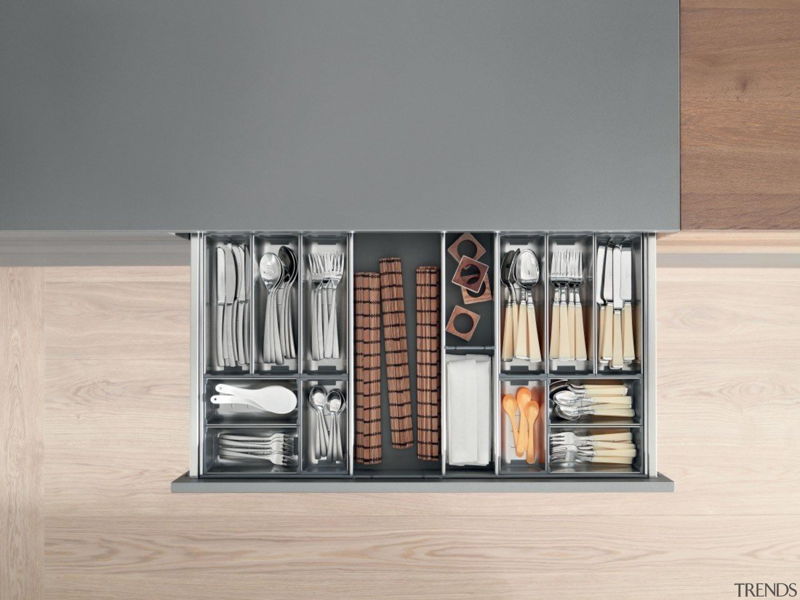 ORGA-LINE inner dividing system – so many practical furniture, product, product design, shelf, shelving, gray