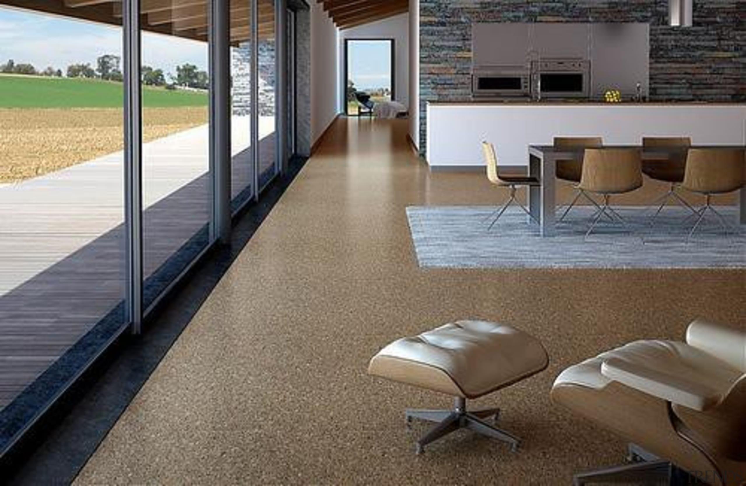 Cork Comfort - Originals Natural - Cork Comfort architecture, daylighting, floor, flooring, furniture, hardwood, house, interior design, laminate flooring, real estate, table, tile, window, wood, wood flooring, gray, brown