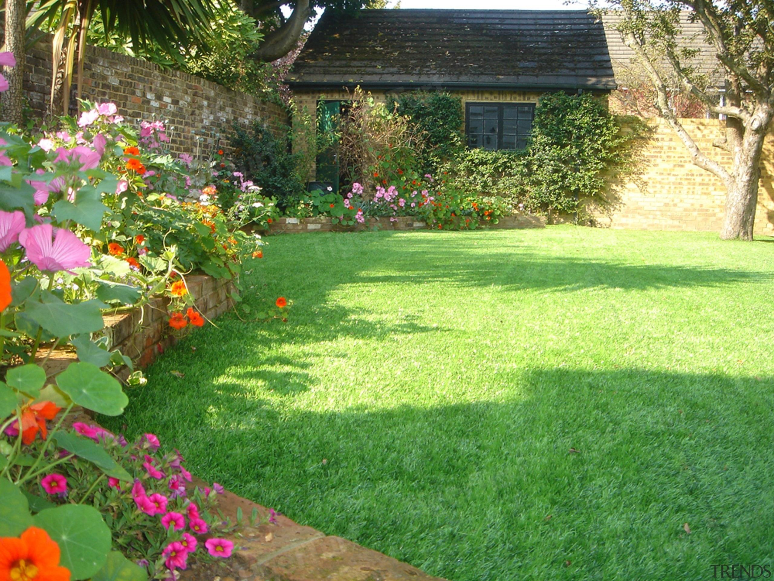 59B48 Wmlandscape4 - backyard | flower | garden backyard, flower, garden, grass, grass family, groundcover, home, house, landscape, landscaping, lawn, plant, property, shrub, yard, green
