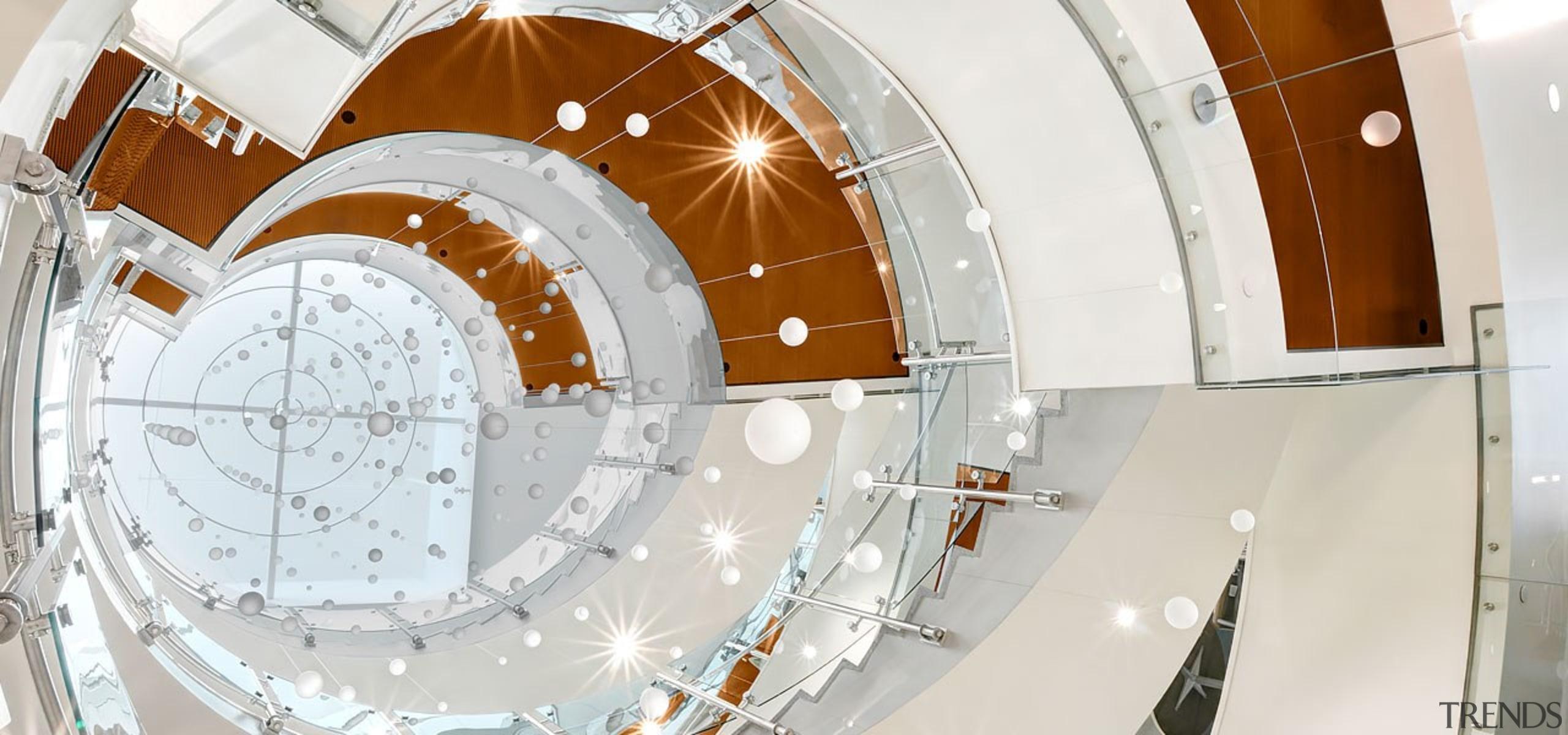 Colorado State University4 - architecture | ceiling | architecture, ceiling, circle, daylighting, space, stairs, white