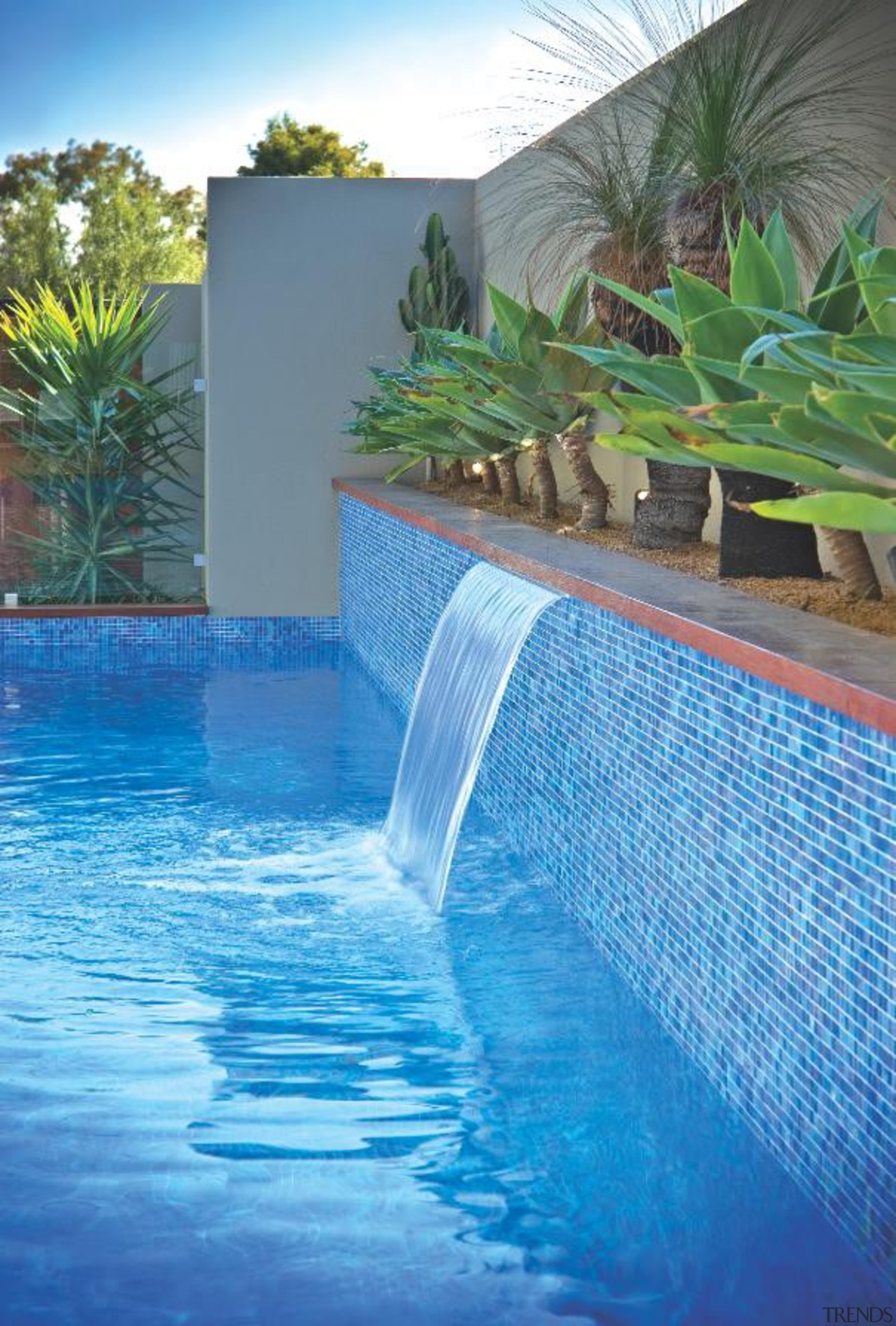 Bisazza swimming pool feature tiles - Bisazza Range leisure, majorelle blue, property, real estate, resort, swimming pool, water, water feature, water resources, watercourse, teal