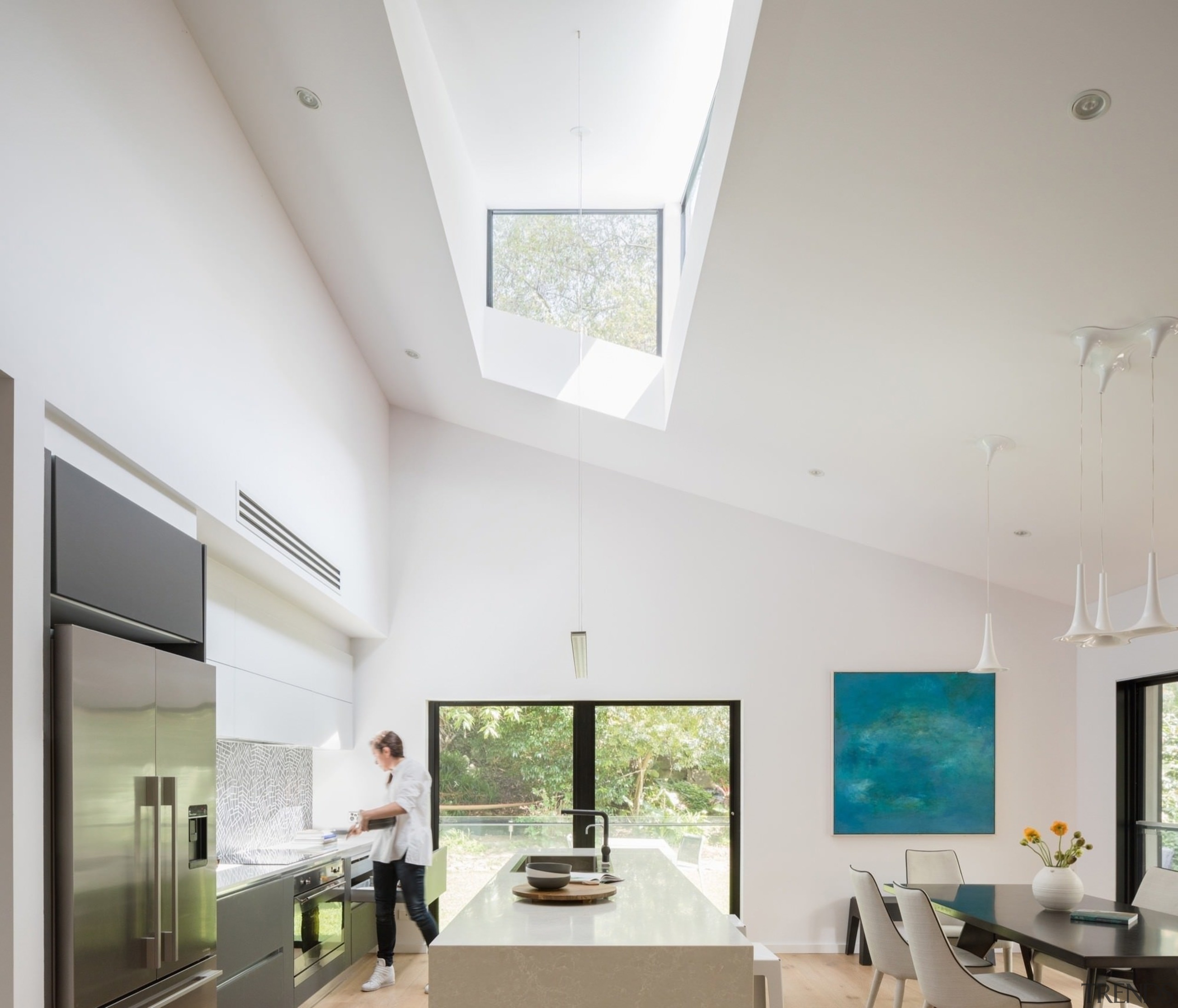 Architect: Bijl ArchitecturePhotography by Katherine Lu architecture, ceiling, daylighting, house, interior design, living room, real estate, window, gray, white