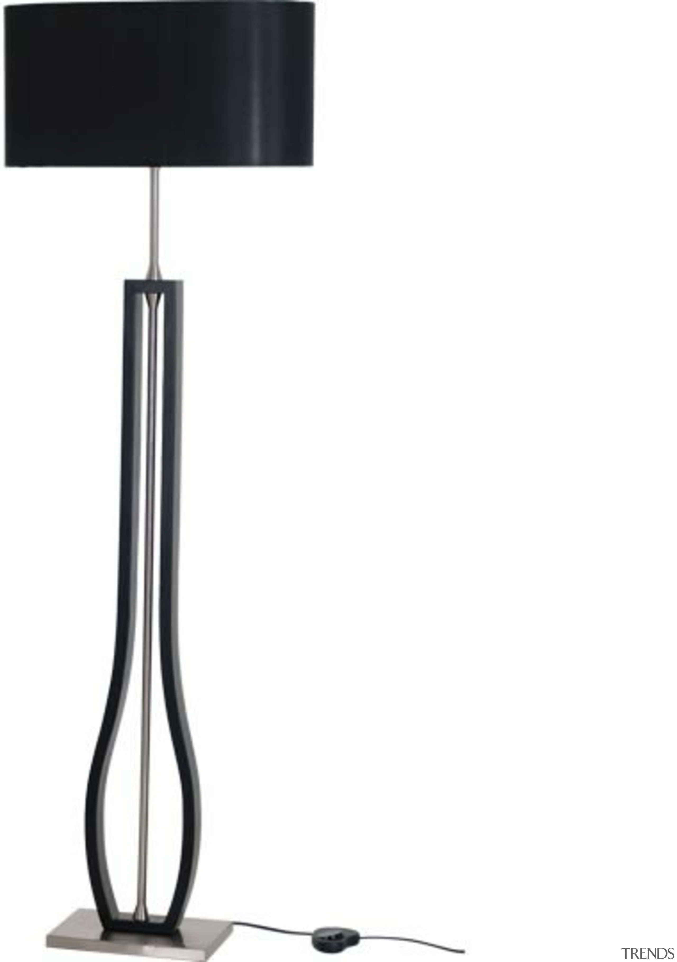 FeaturesA contemporary designer style lamp that features an lamp, light fixture, lighting, product, product design, white