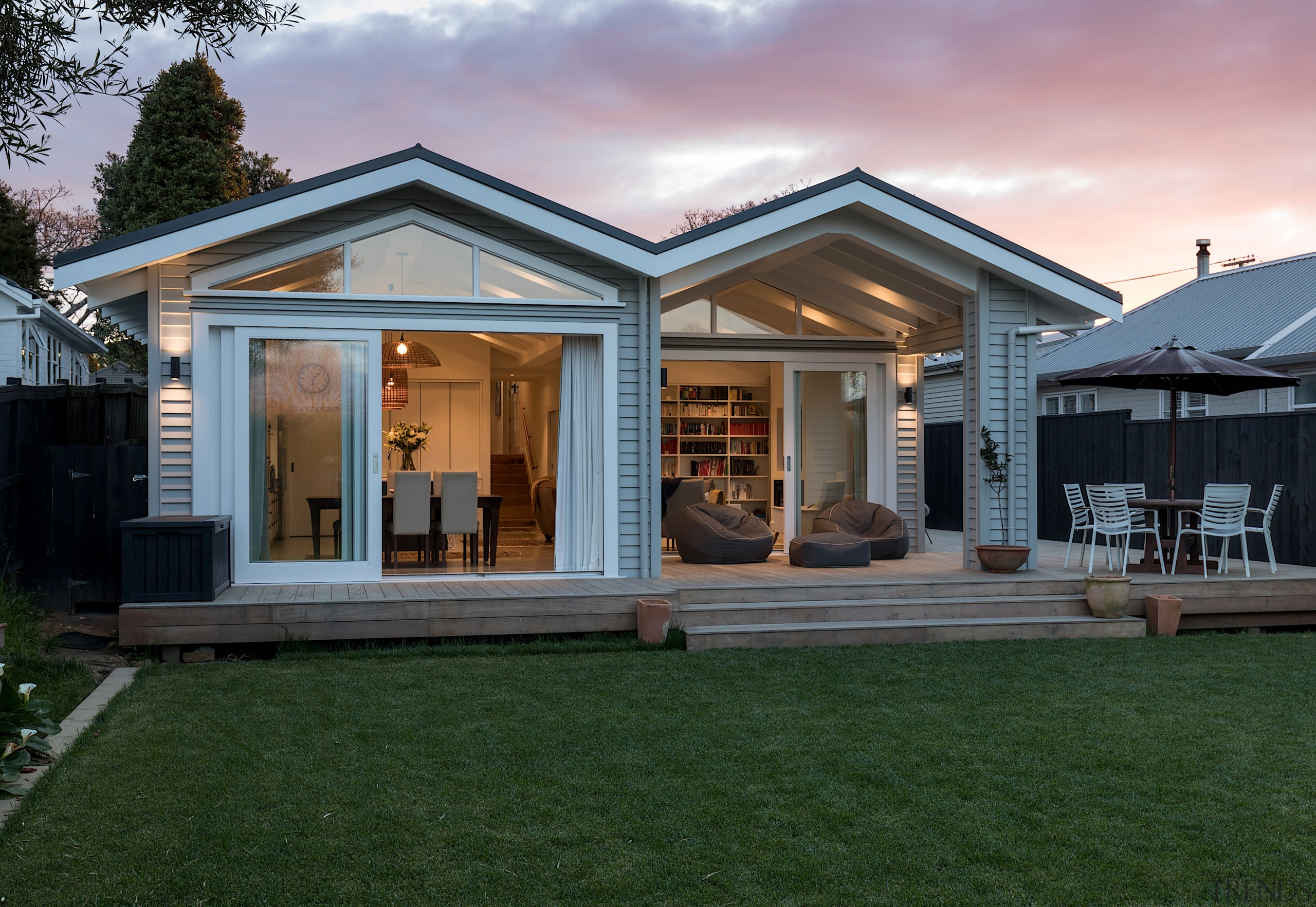With options! This transformative renovation by Michael Cooper