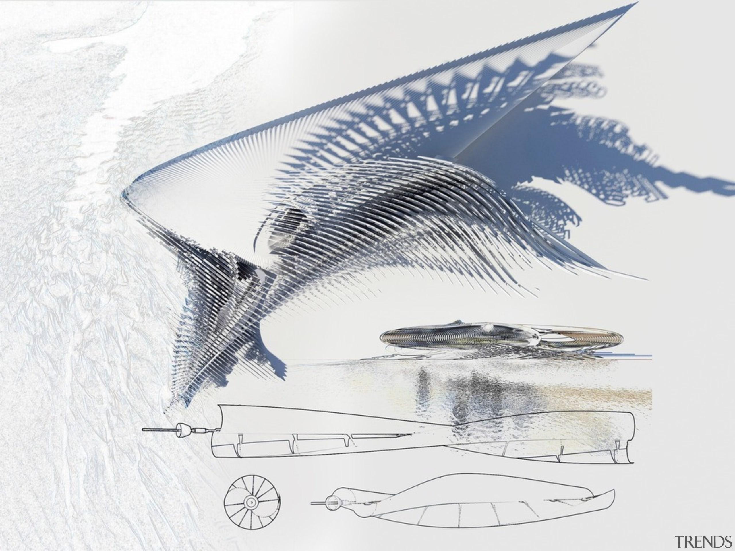Harmonic Hotel 7 - artwork | automotive design artwork, automotive design, line, water, wing, white