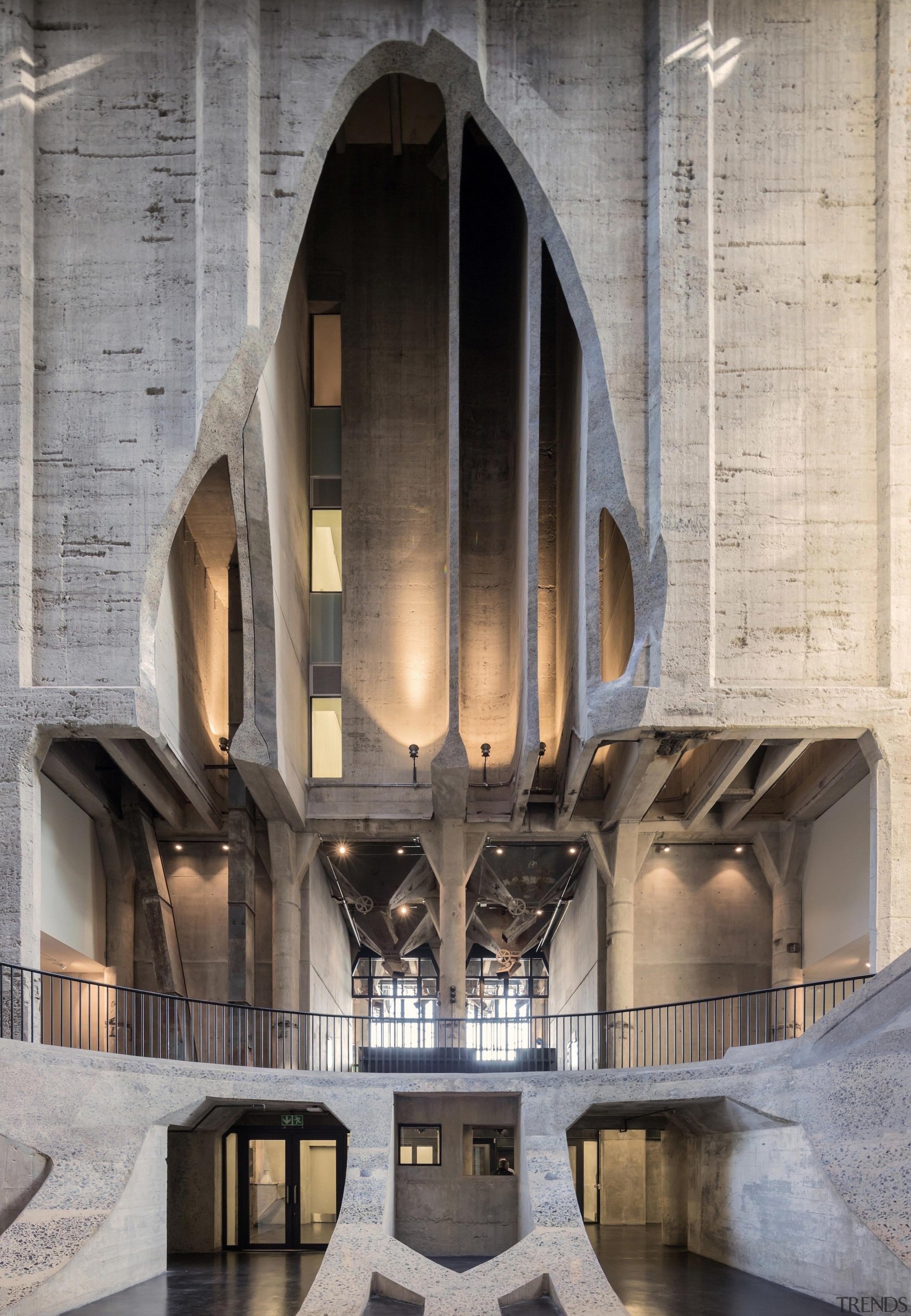 The Zeitz Museum of Contemporary Art Africa (Zeitz arch, architecture, building, gray
