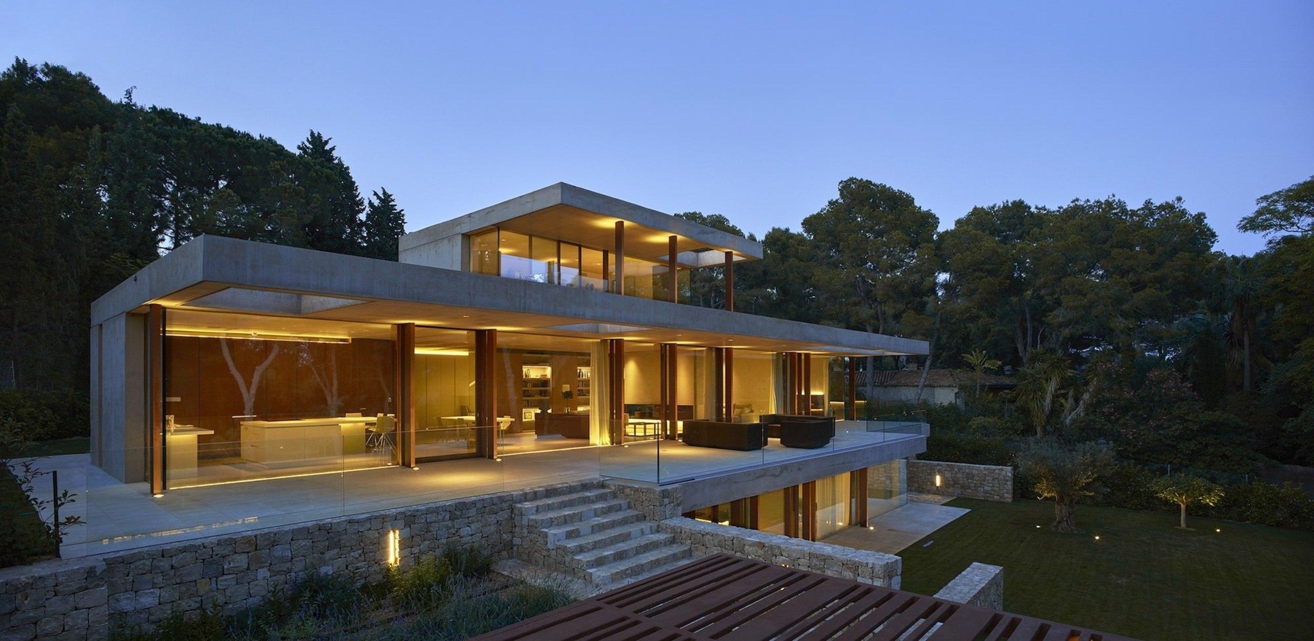 Architect: Ramón Esteve Estudio de Arquitectura architecture, cottage, estate, facade, farmhouse, home, house, lighting, property, real estate, roof, villa, black, teal