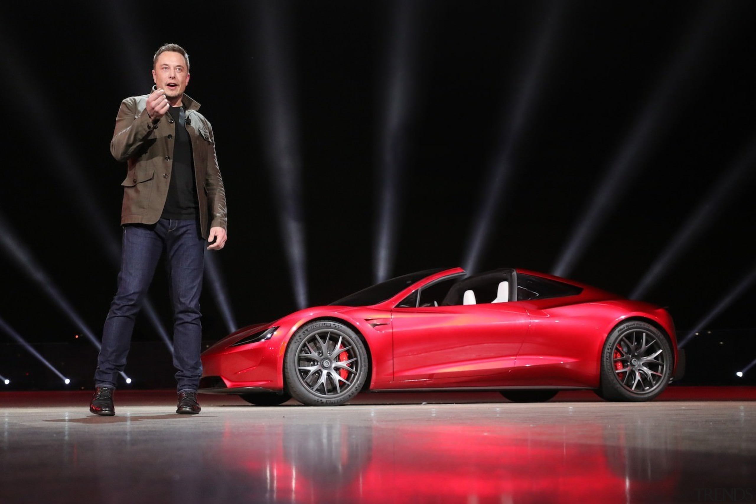 Tesla's new Roadster - Tesla's new Roadster - auto show, automotive design, car, concept car, land vehicle, luxury vehicle, motor vehicle, performance car, personal luxury car, sports car, supercar, vehicle, black