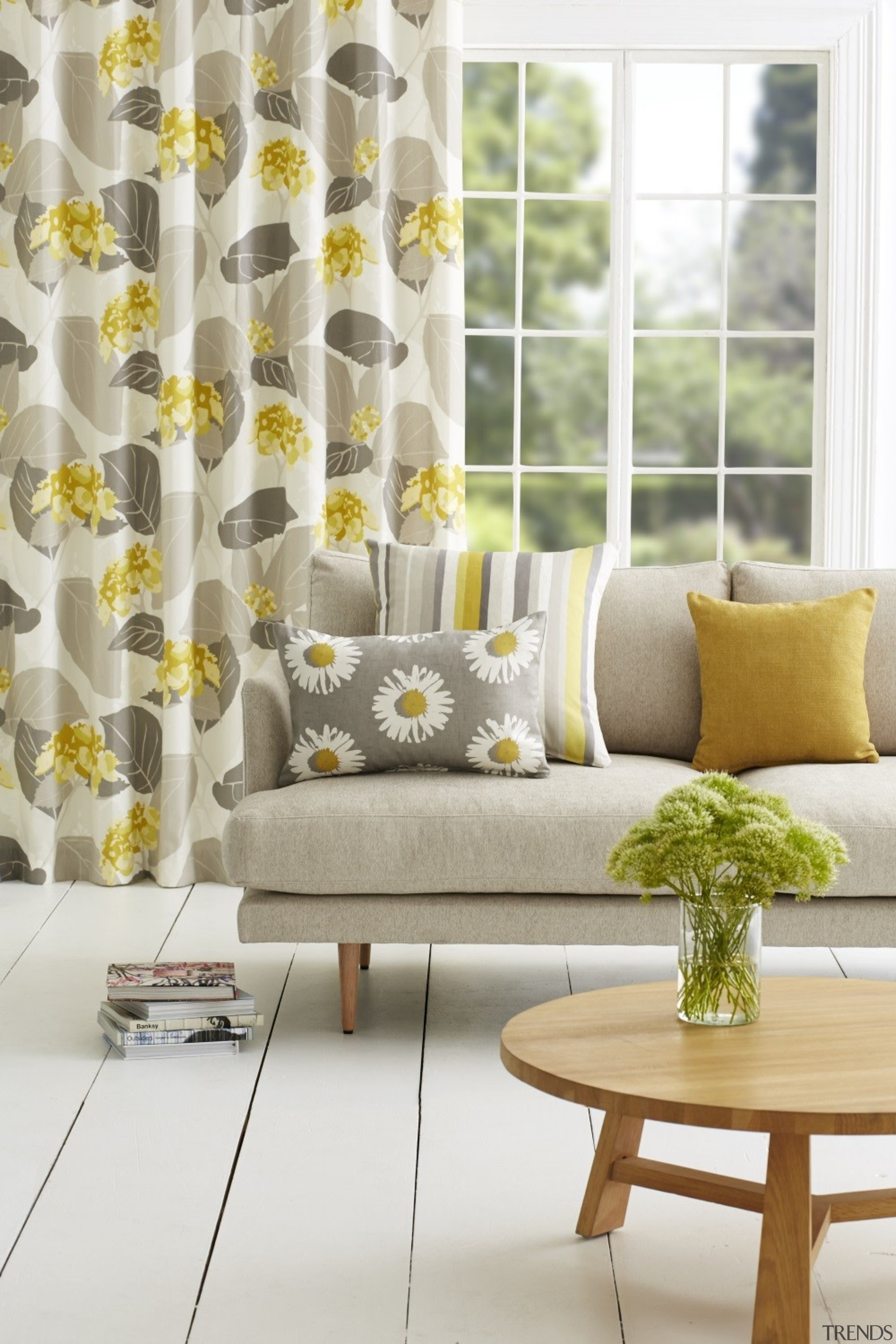 Harrisons Curtains - Harrisons Curtains - couch | couch, curtain, furniture, home, interior design, living room, table, textile, window, window covering, window treatment, yellow, white