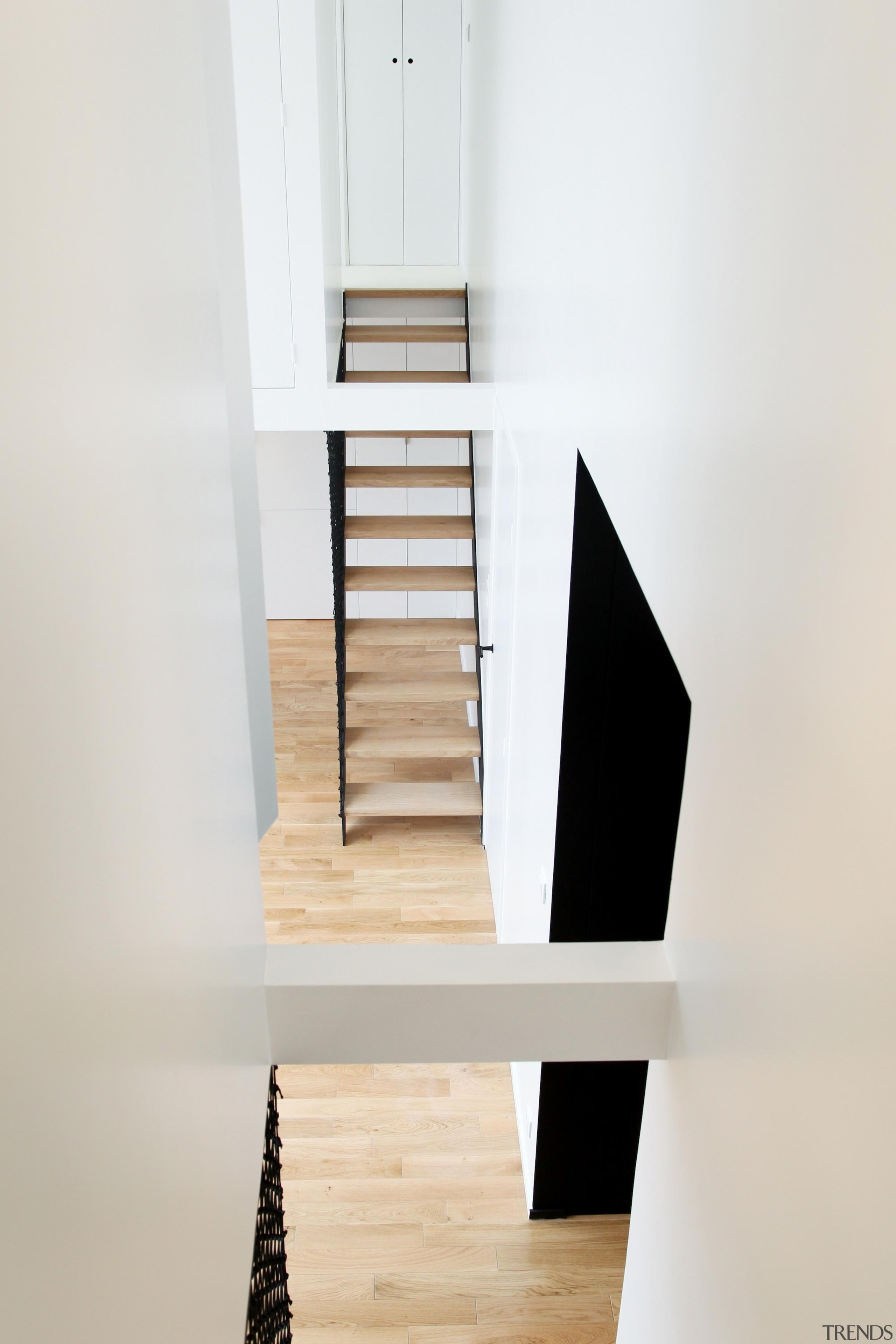 Architect: jbmn architectesPhotographer: Hermann Wendler furniture, product design, shelf, shelving, stairs, wood, white