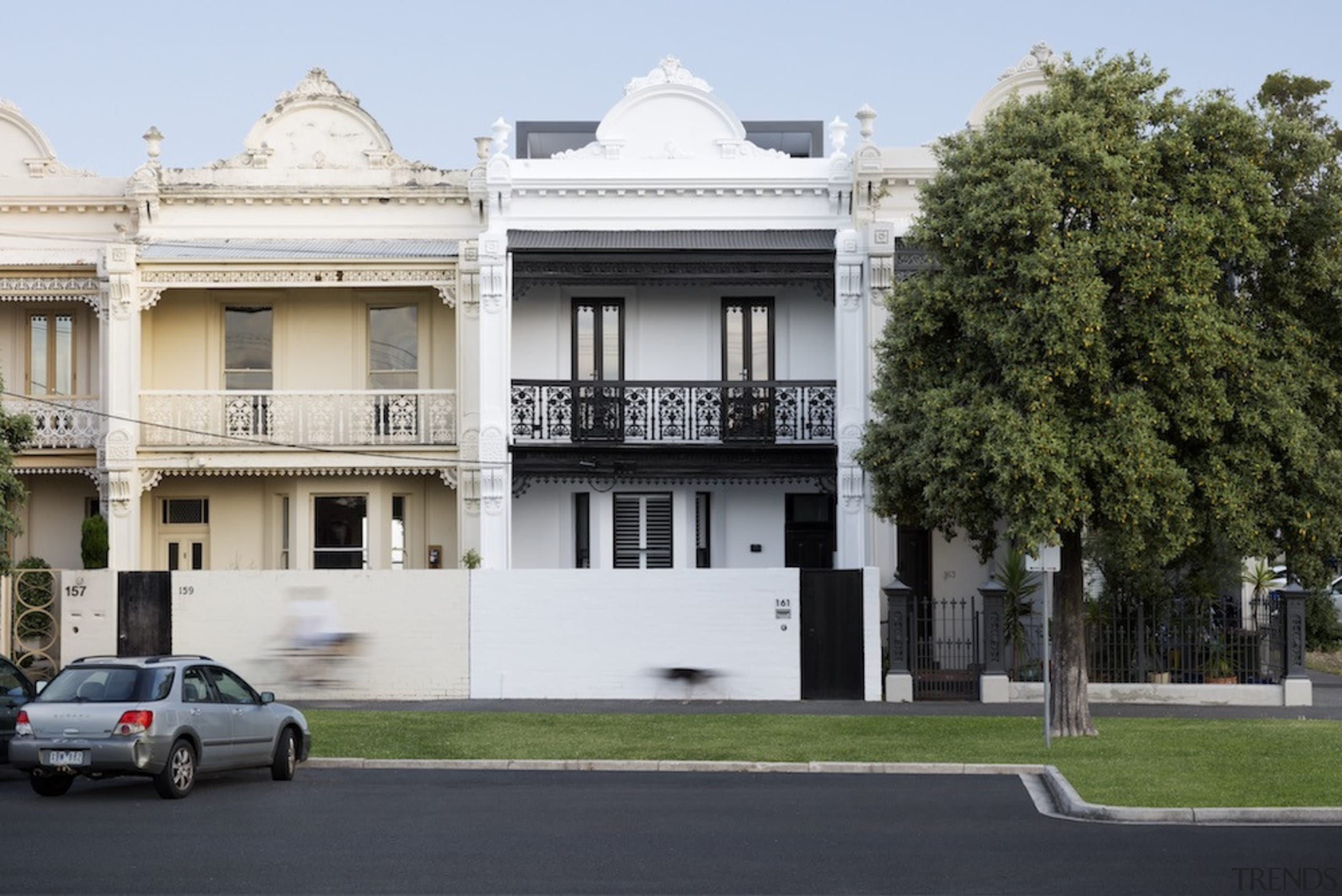 This project transforms a small Victorian terrace into architecture, building, classical architecture, estate, facade, family car, historic house, home, house, mansion, neighbourhood, official residence, property, real estate, residential area, white