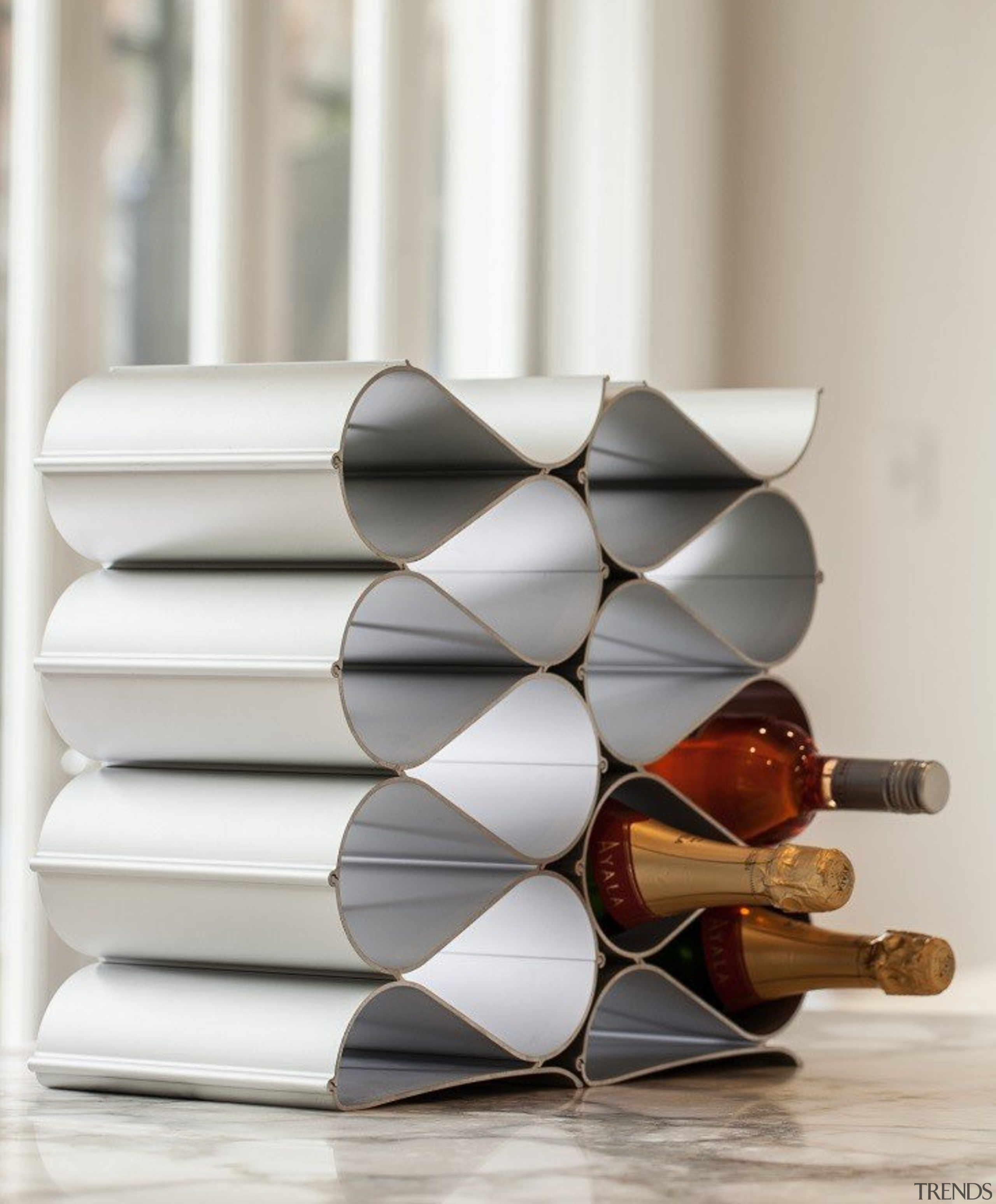 Just starting your wine collection? An Echelon furniture, product design, shelf, gray, white