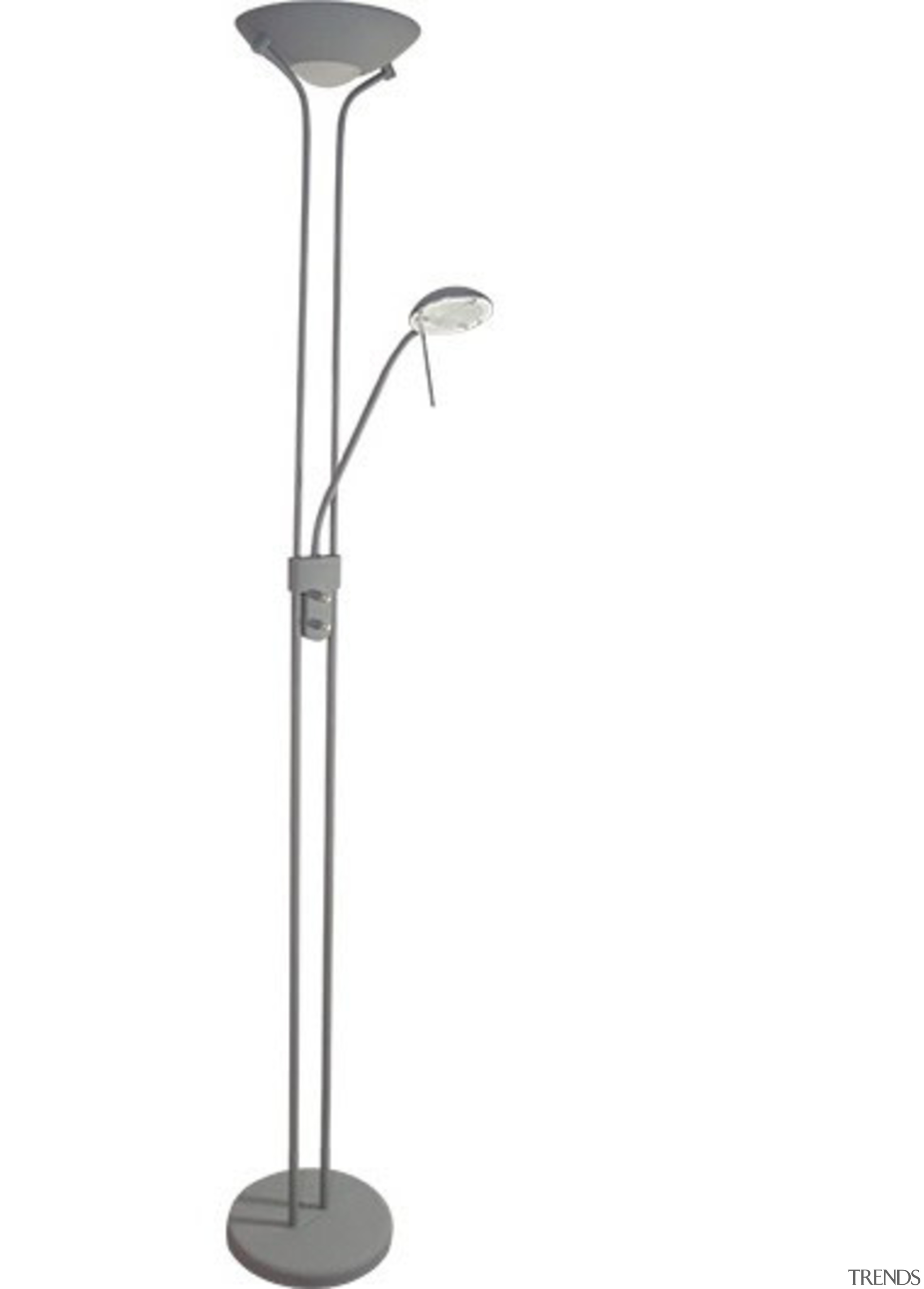 FeaturesThe sleekly designed Alena floor lamp features a light fixture, lighting, product design, white