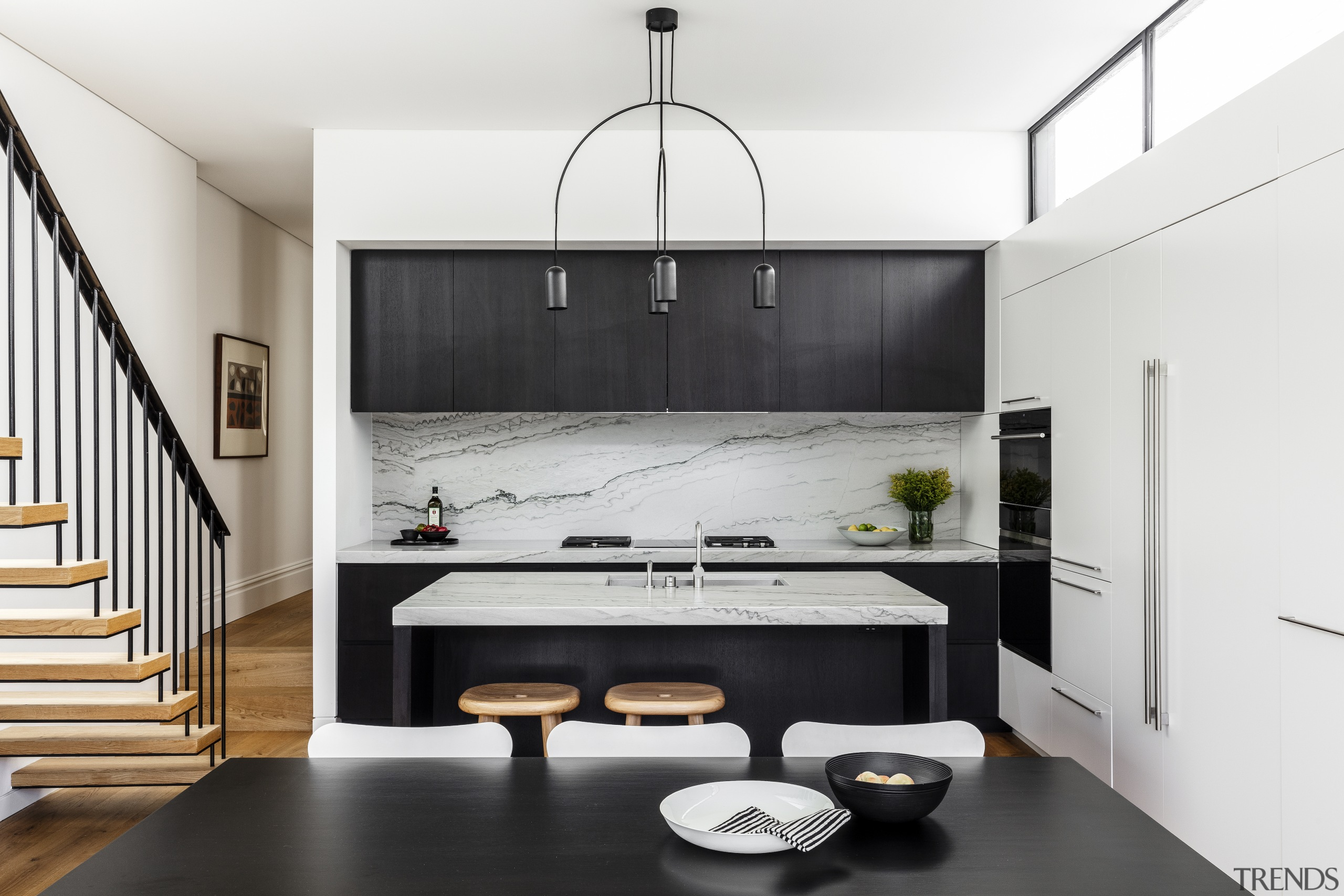 The owner really enjoys cooking so was particular architecture, bathroom, black-and-white, building, cabinetry, ceiling, countertop, floor, flooring, furniture, home, house, interior design, kitchen, material property, property, room, sink, tile, white, white