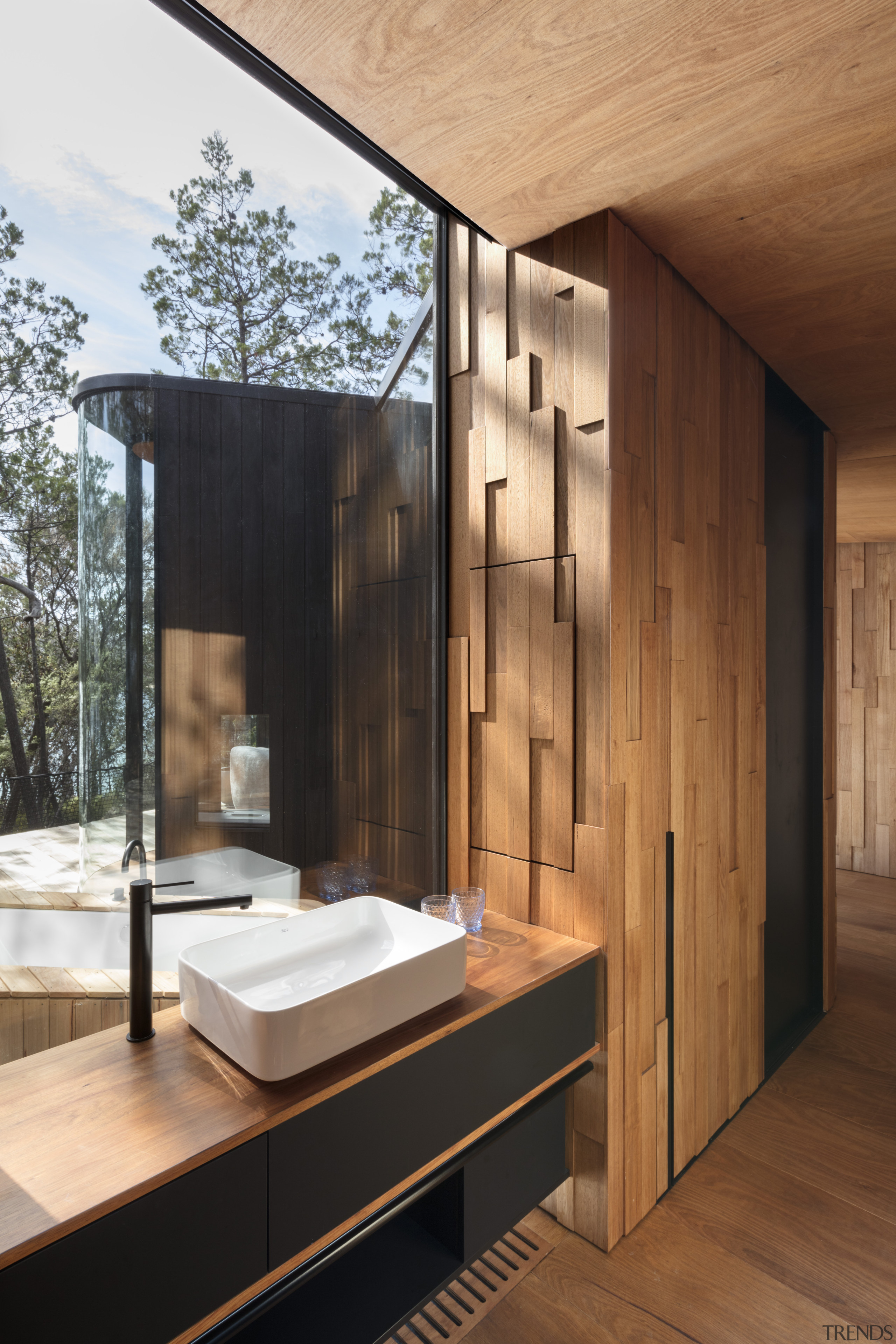Tasmanian Oak interiors formed from off-cuts make for