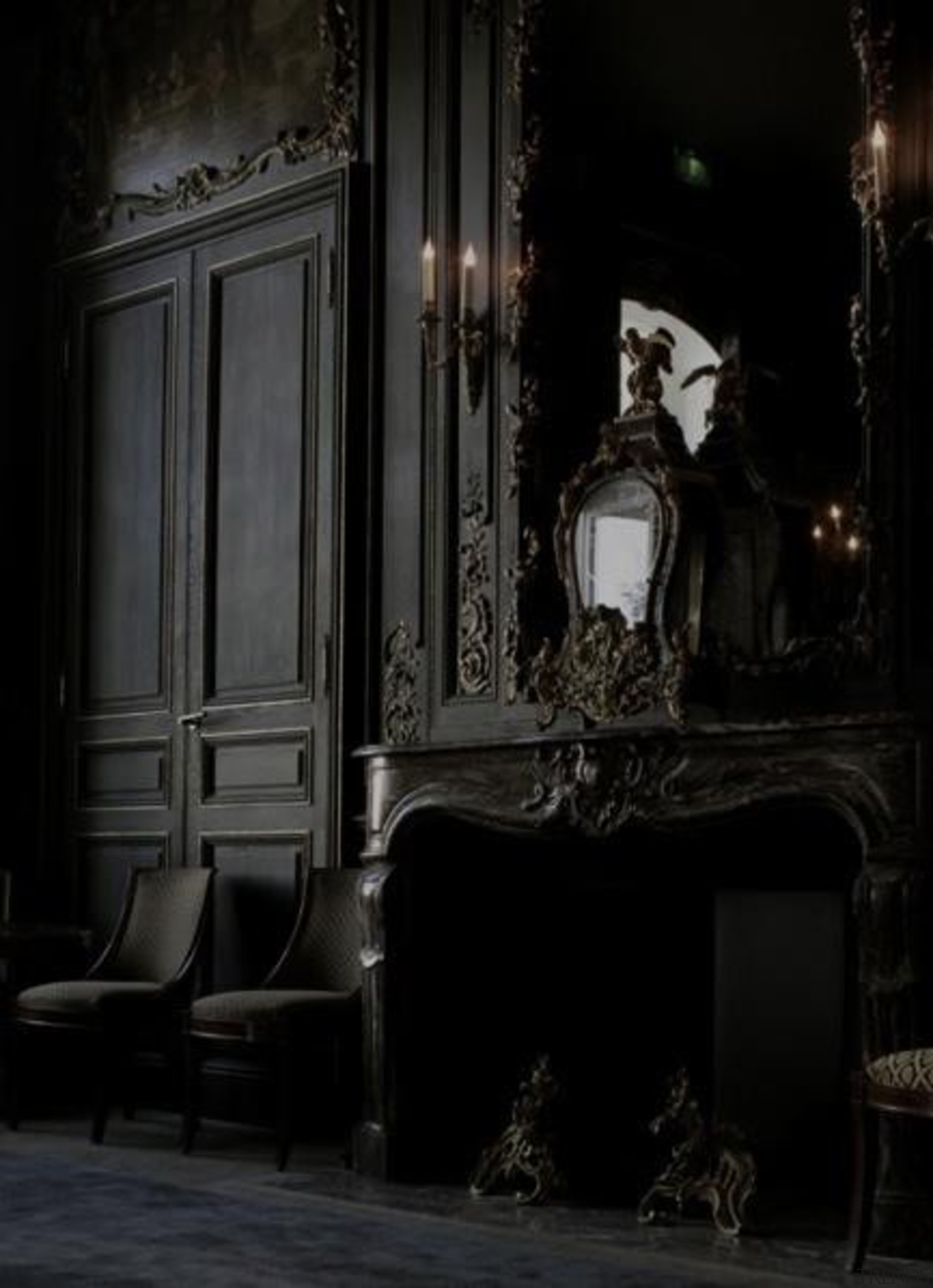 This room looks like it came straight from darkness, house, light, lighting, night, window, black