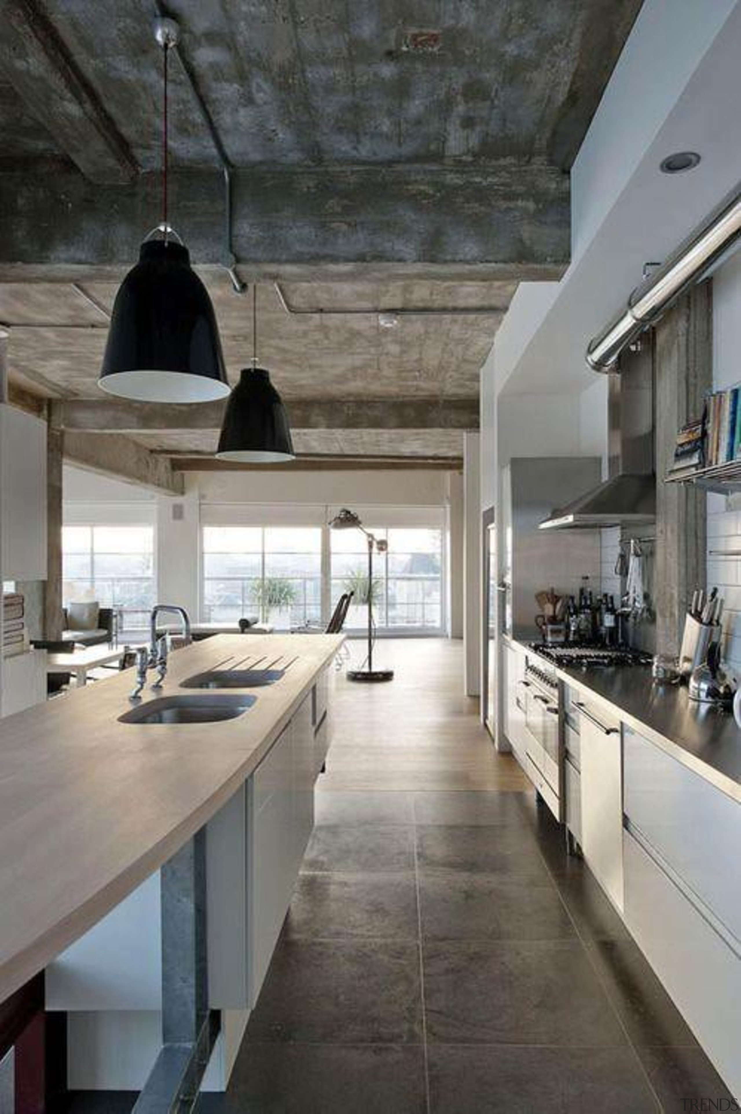 Start a myTrends ProjectCreate an ideas hub for ceiling, countertop, cuisine classique, floor, flooring, interior design, kitchen, gray, black