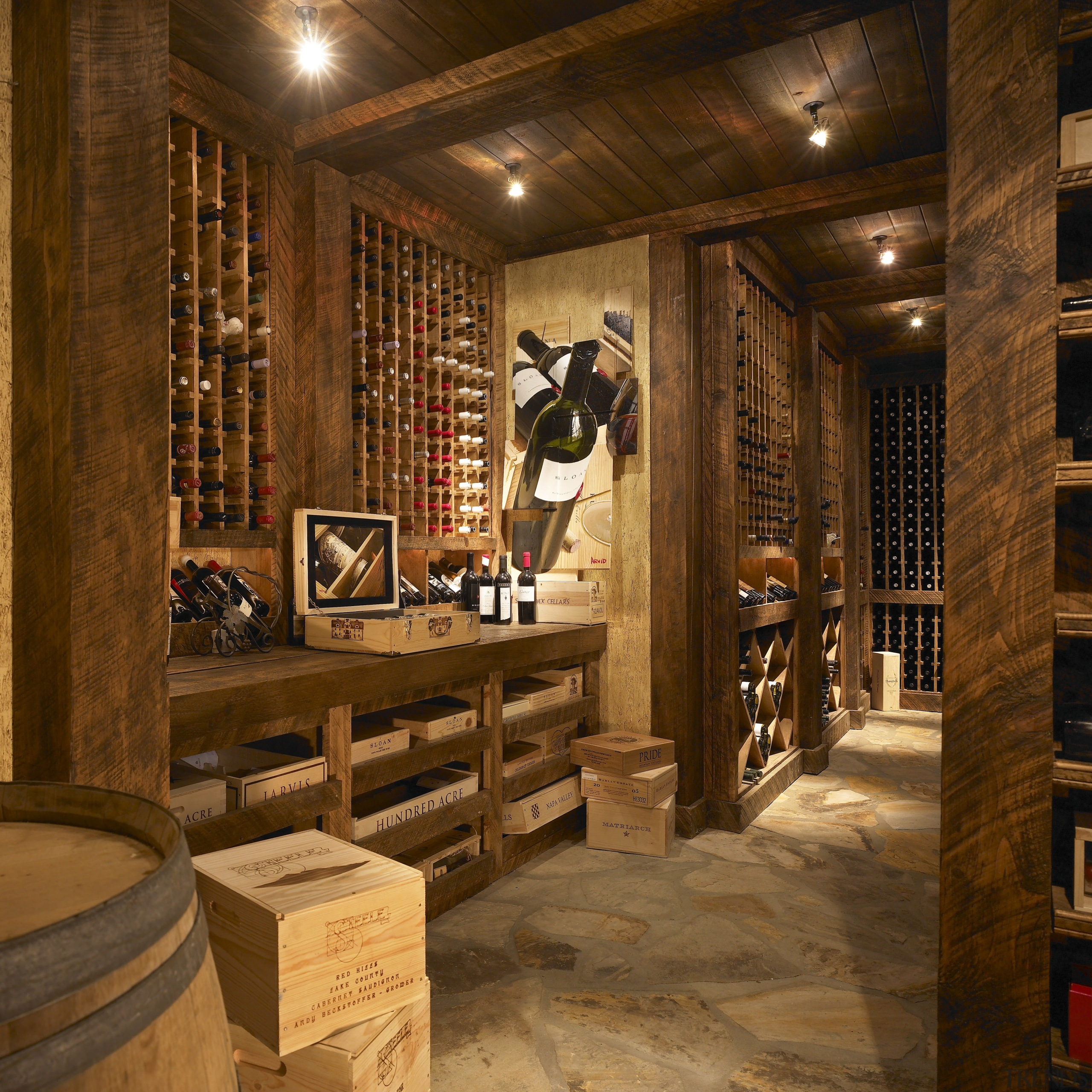 A Wine Cellar View Features Floor-t... - Gallery - 1